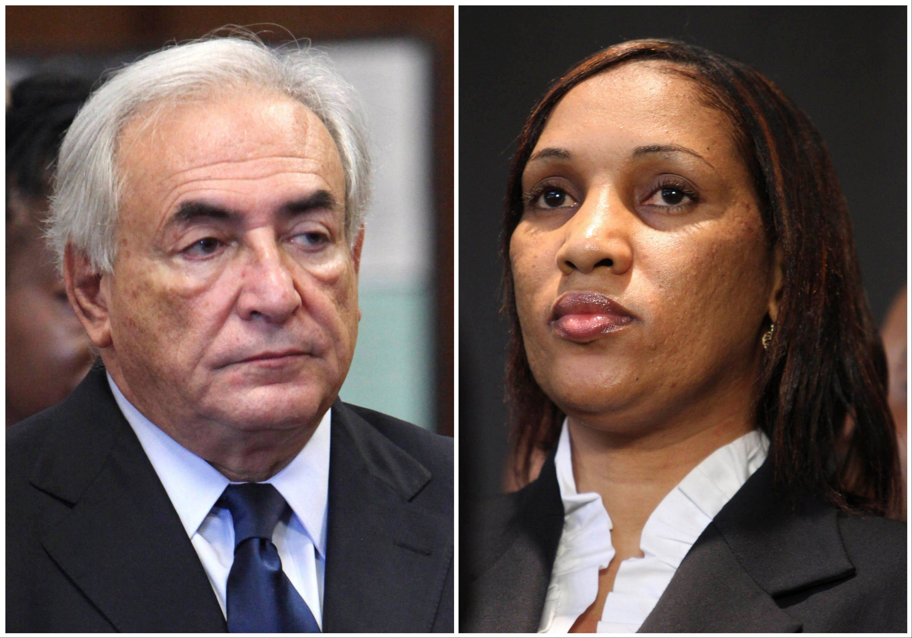 Former International Monetary Fund leader Dominique Strauss-Kahn is seen at left, and Nafissatou Diallo is seen at right. Diallo�s sexual assault lawsuit against the former IMF leader could wrap up as soon as Monday in a quiet deal.