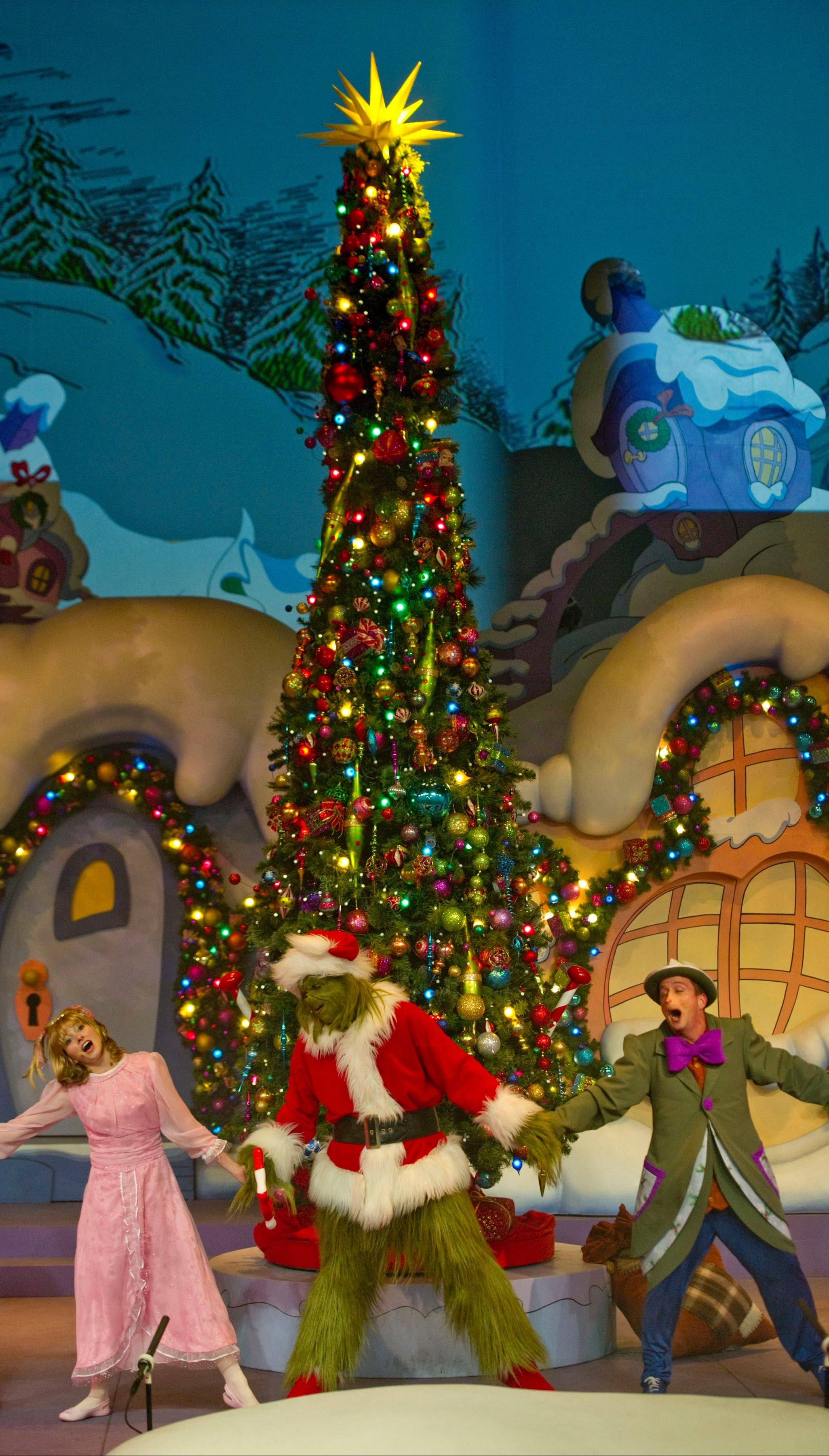 "Universal in Orlando is featuring the live holiday show, ""Grinchmas Wholiday Spectacular,"" inspired by the classic story, ""How the Grinch Stole Christmas."" The theme park's events also include a nightly parade of giant balloons from Macy's New York City holiday parade."