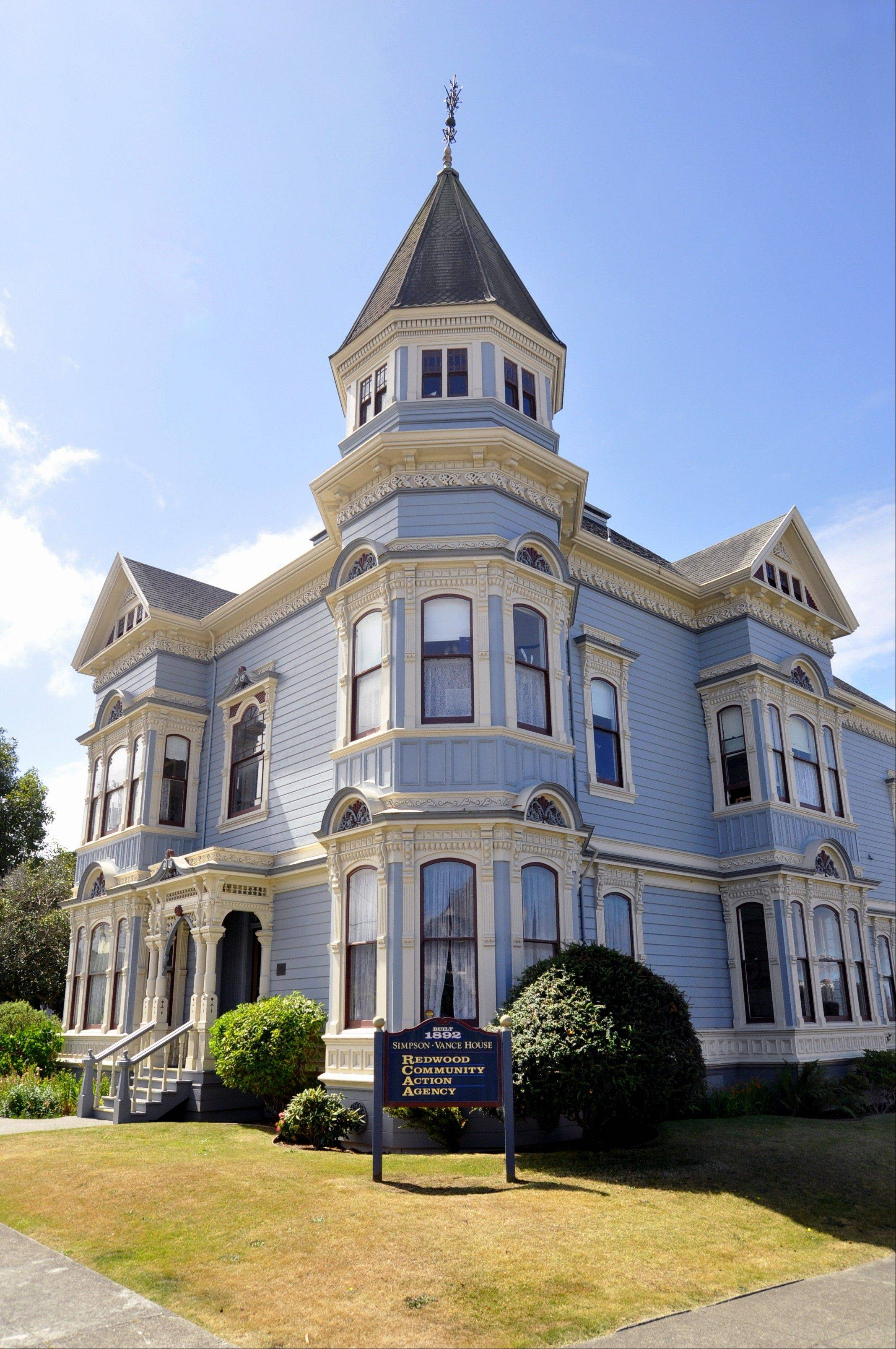 The Simpson-Vance house, built in 1892, is in Eureka, Calif.
