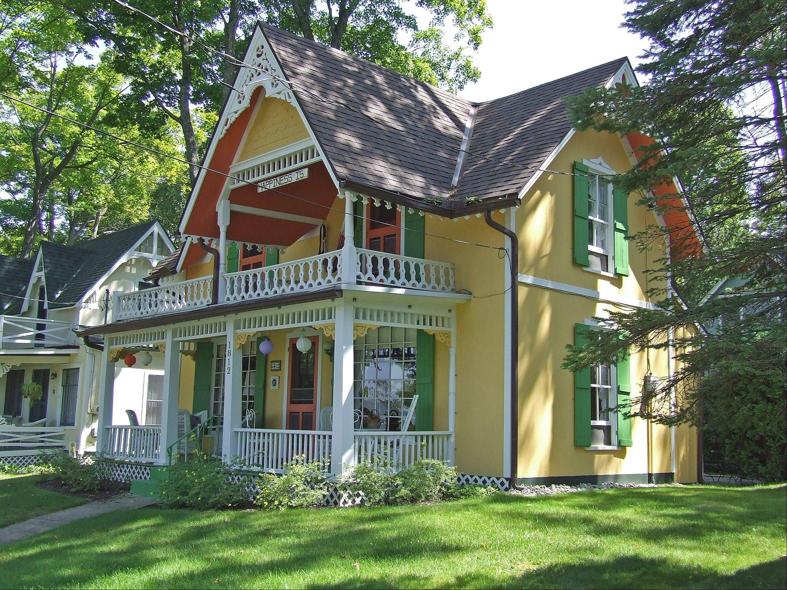 This cottage is in Bay View, Mich, a small unincorporated area that was founded in 1875 as a Methodist community.