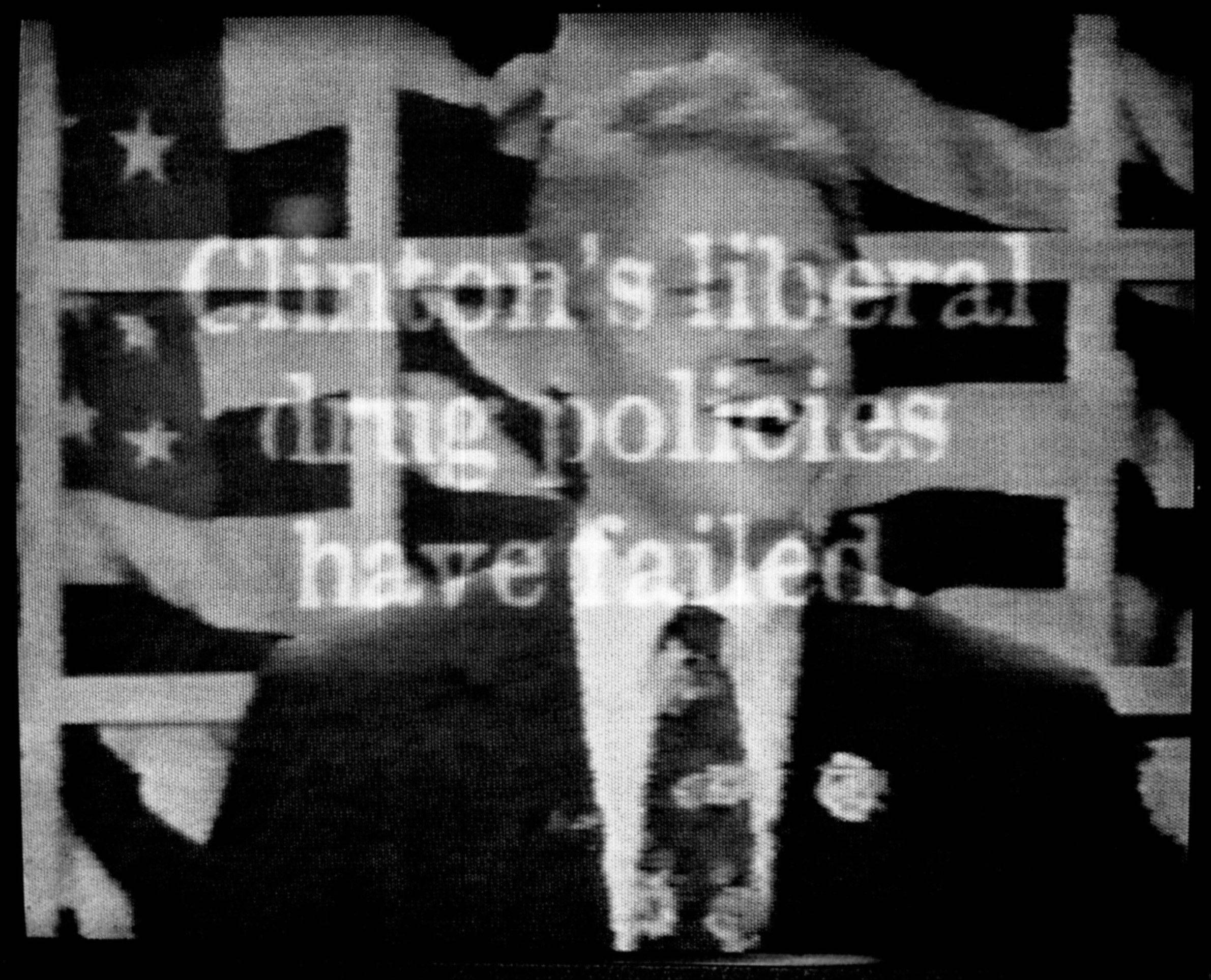 This 1996 photo shows a television ad aired by Republican presidential candidate Bob Dole's campaign that includes footage from a 1992 MTV interview of a laughing President Clinton saying he would inhale marijuana if given the chance to relive his college days. The words on the screen read, ''Clinton's liberal drug policies have failed.''