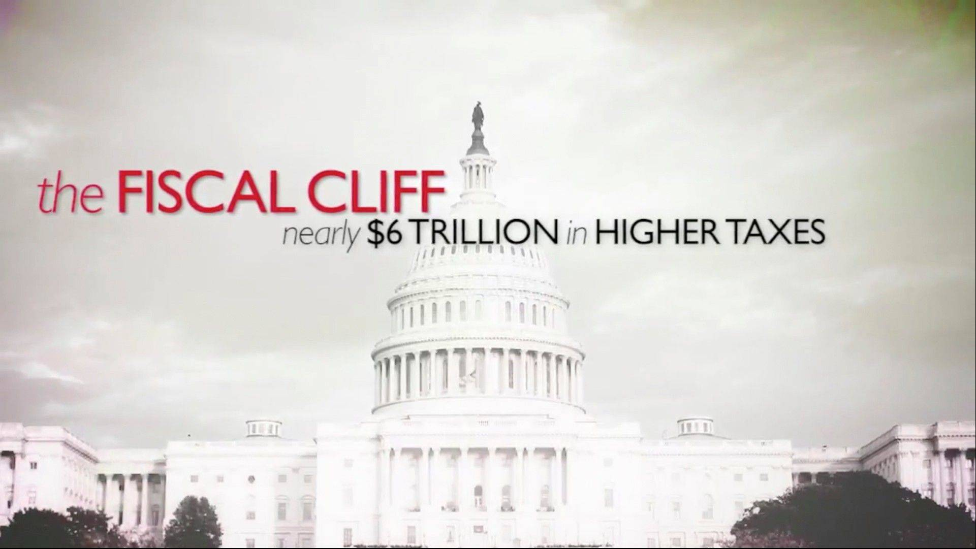 This still image from video released by the Business Roundtable, show their online video on the �fiscal cliff.� Picking up where the wall-to-wall election ads left off, debate over the �fiscal cliff� has money pouring into television, print, radio and online advertising.