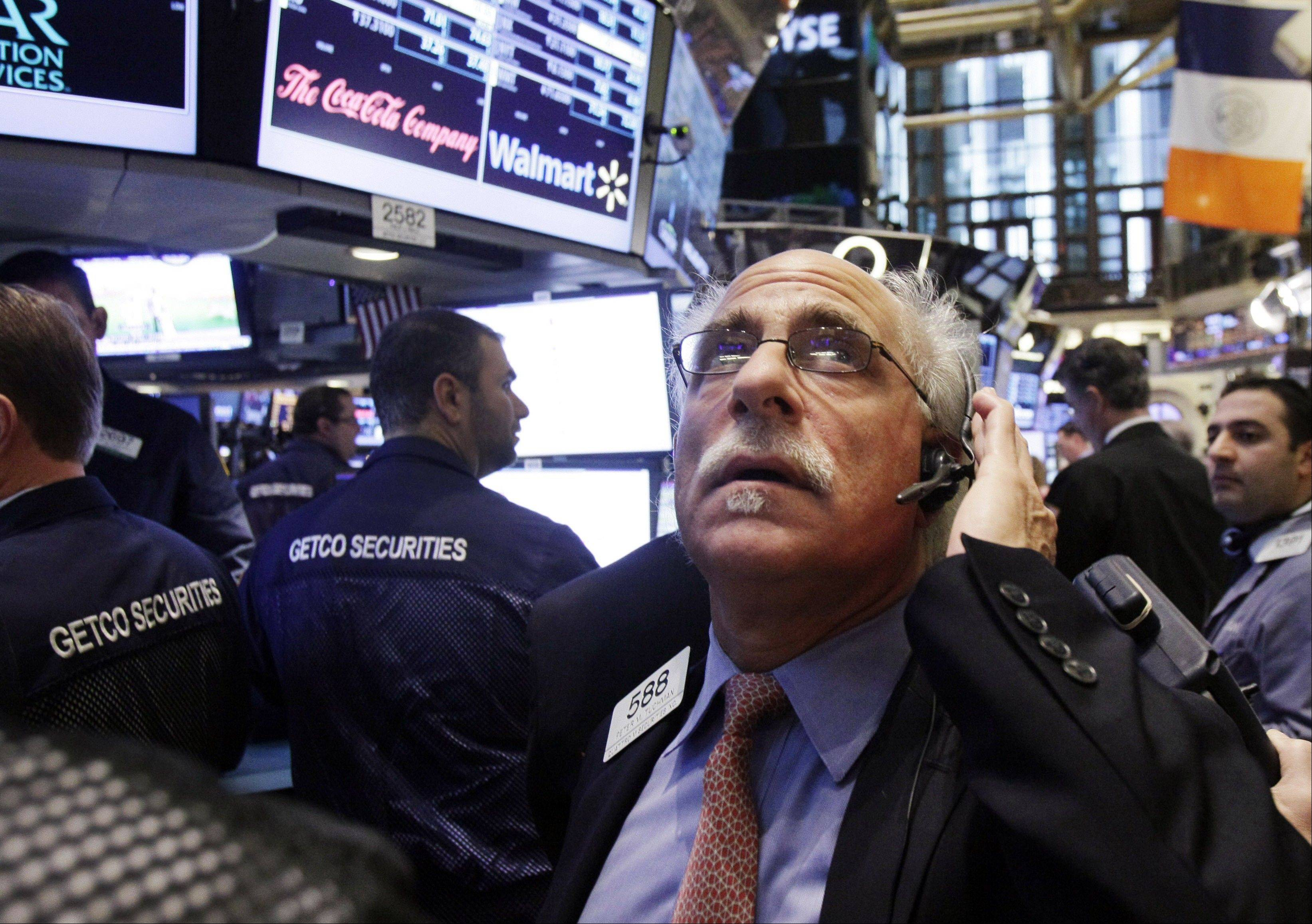 U.S. stocks advanced, after the longest weekly rally in the Standard & Poor's 500 Index since August, as economic data in China beat estimates and investors watched the latest developments in American budget talks.
