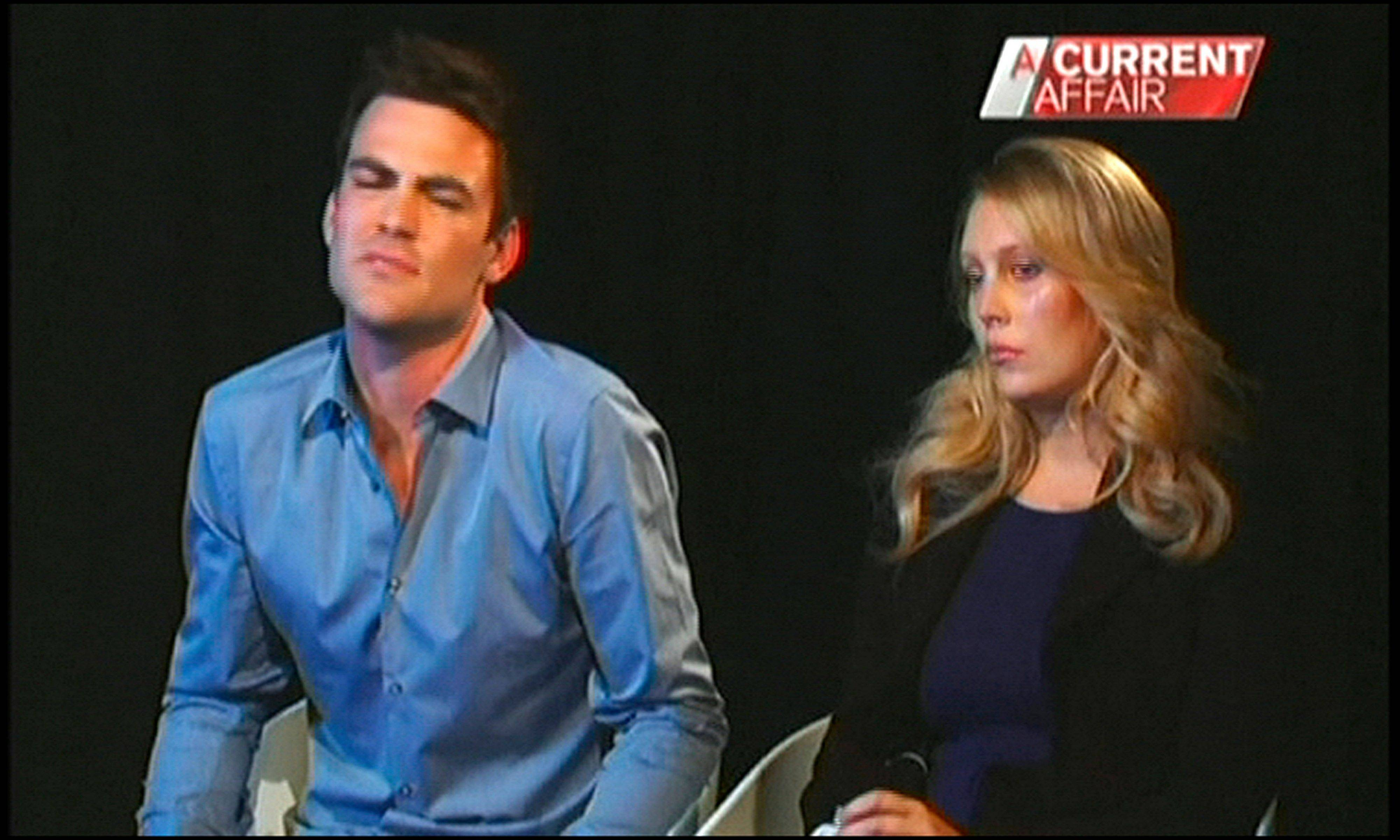 Australian radio DJs Michael Christian, left, and Mel Greig appear during an interview with Australia's Channel Nine. The two managed to impersonate Queen Elizabeth II and Prince Charles and received confidential information about the Duchess of Cambridge's medical condition, which was broadcast on-air.