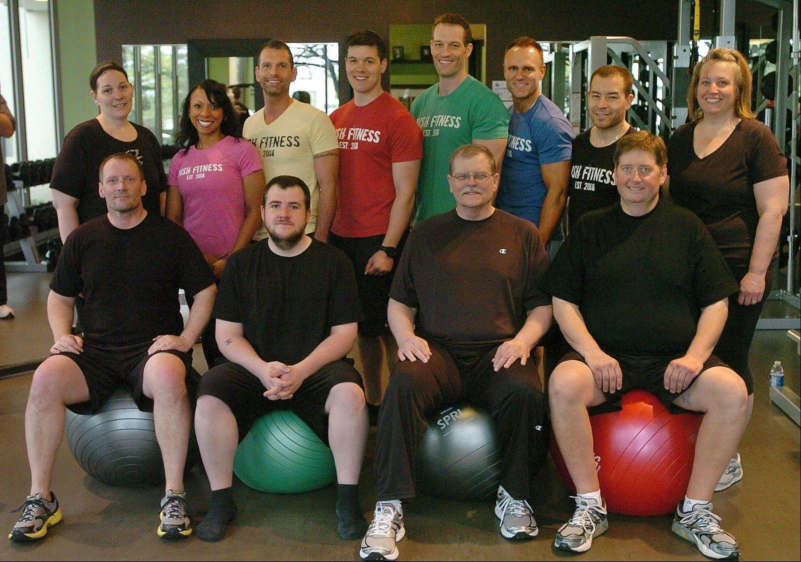 Over the course of 12 weeks, the 2012 Fittest Loser competitors lost a combined 399 pounds with the help of their Push Fitness trainers.