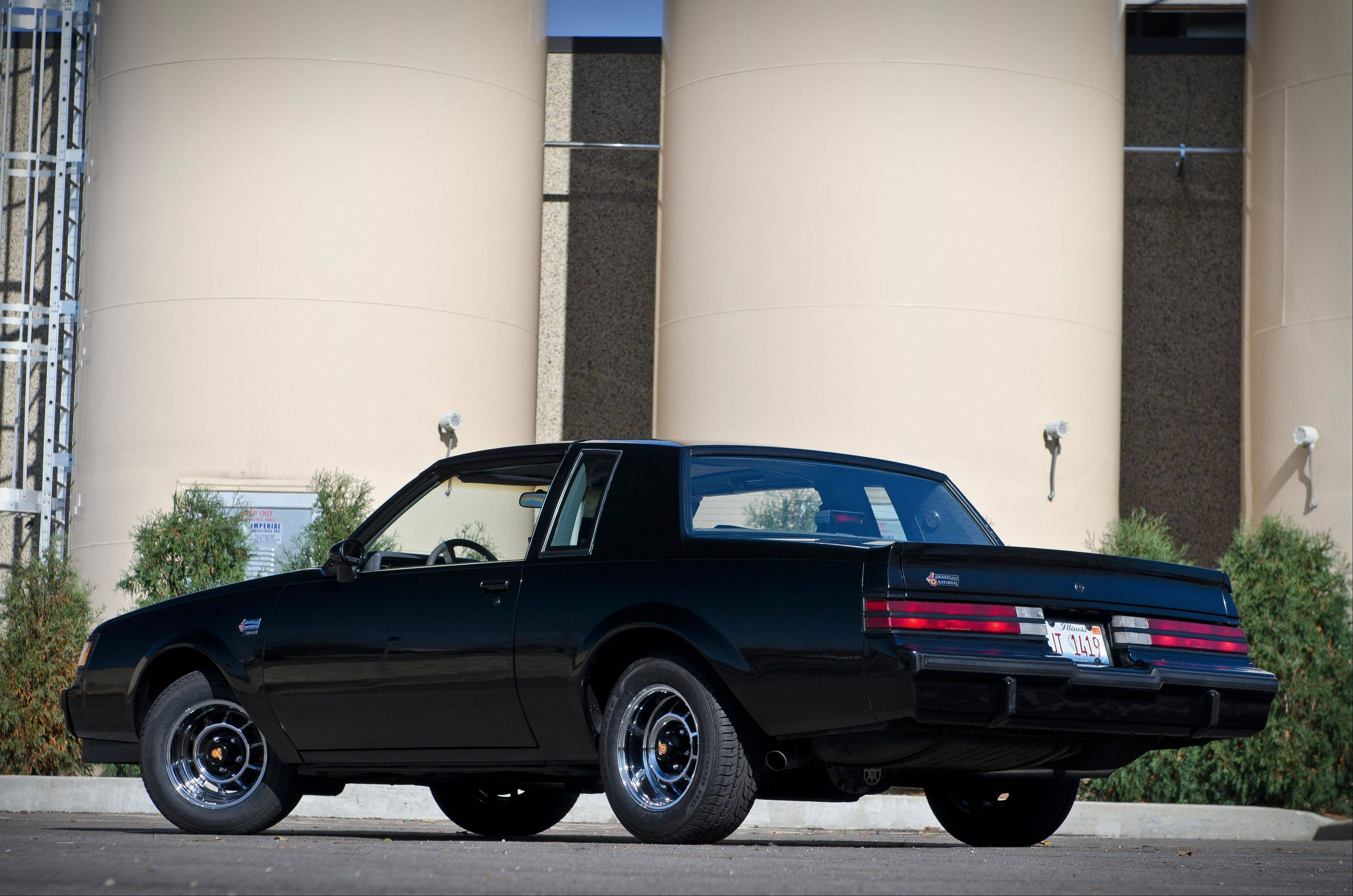 The stealthy black 1987 Grand National was completed on Oct. 28 according to its build sheet. An options list under the trunk lid is partially written in French because the auto was destined for a Canadian dealer.