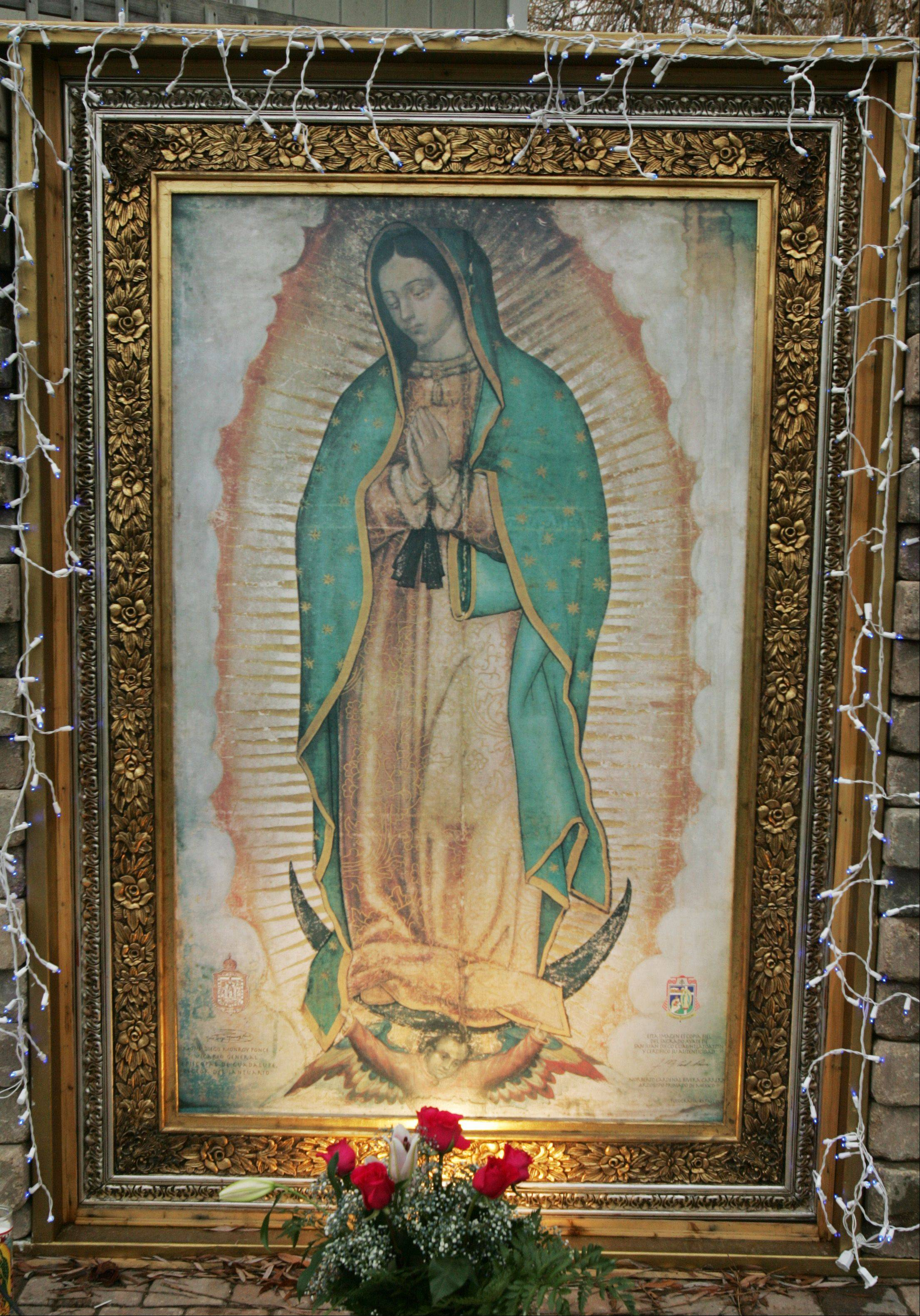 Al Nava and his wife, Fabby, have an exact replica of the Virgin of Guadalupe on display in the backyard of their Elgin home. The original image of Our Lady of Guadalupe hangs in the Basilica of Guadalupe in Mexico City.