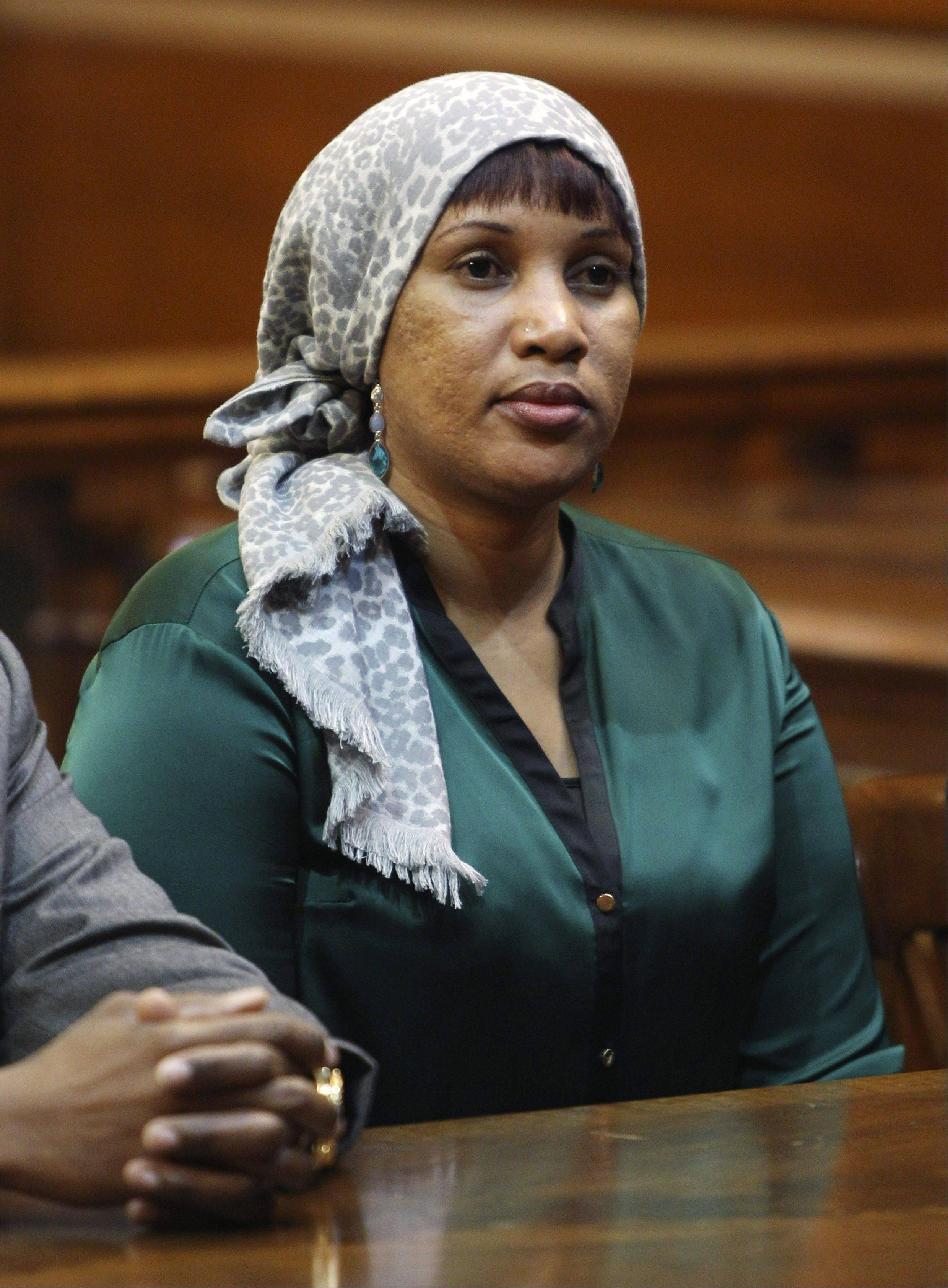 Nafissatou Diallo, a hotel housekeeper who alleged she was sexual assaulted by former International Monetary Fund leader Dominique Strauss-Kahn, appears in court in New York Monday.