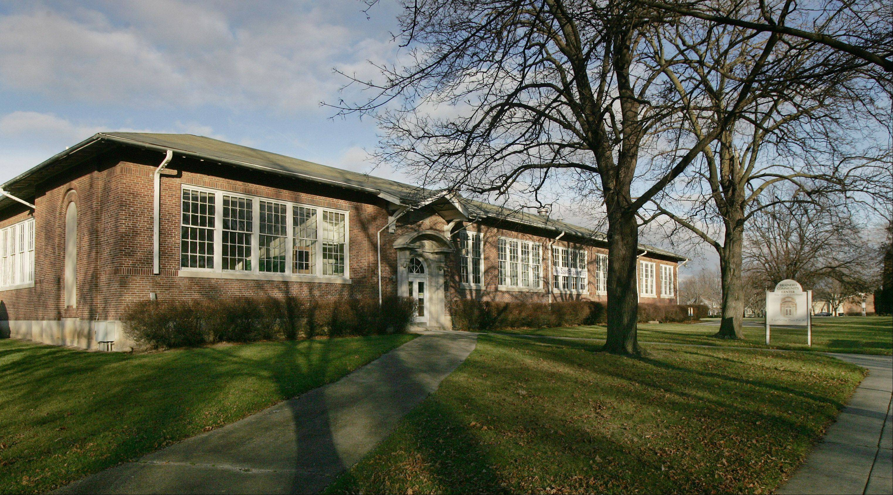 The Brainerd building south of downtown Libertyville was built in 1916 as the first high school in central Lake County. Fundraising efforts to convert the shuttered building into a community center have fallen short and voters are expected to be asked if they are willing to support a tax hike to do so.