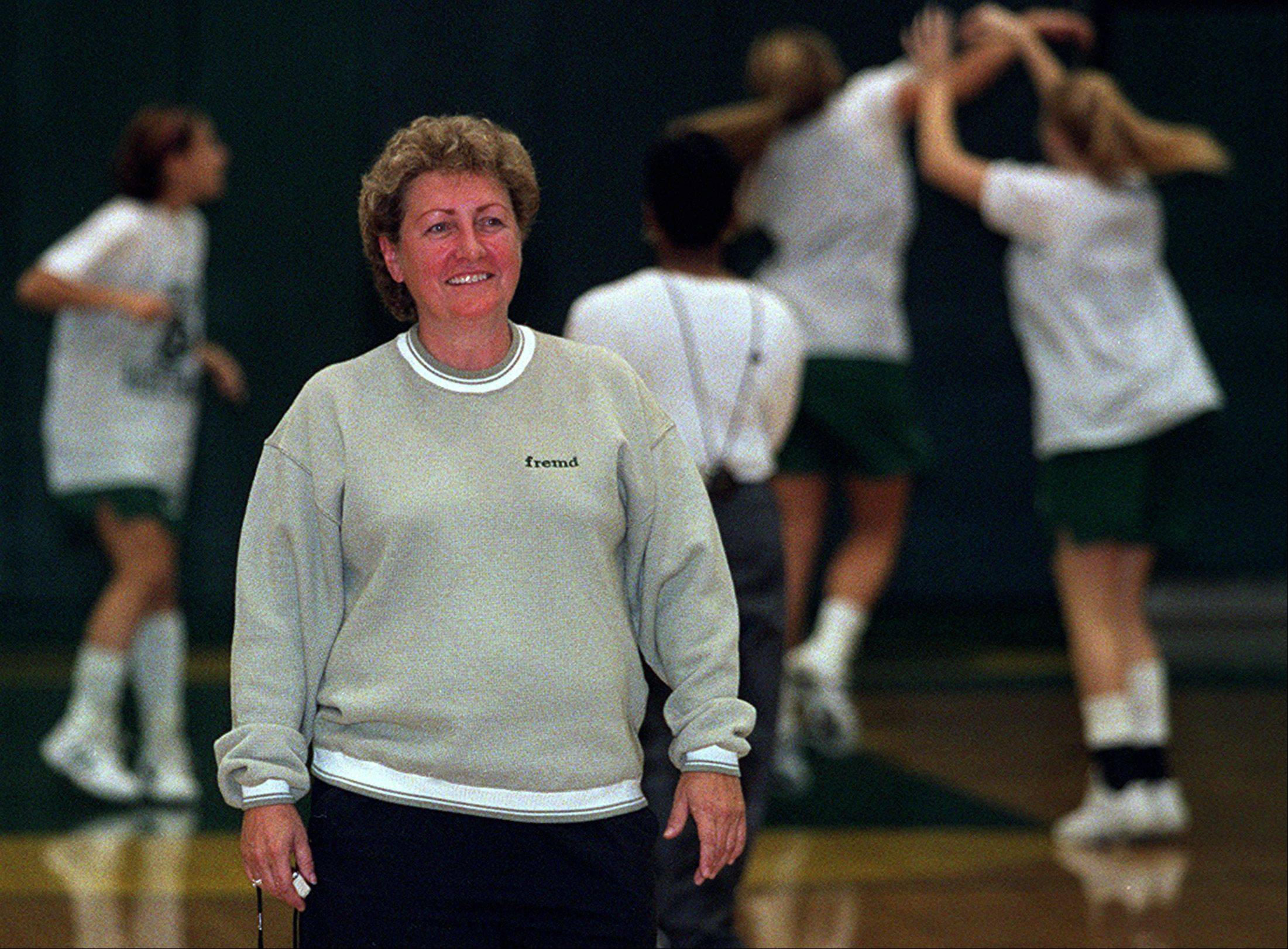 Carol Plodzien, who won 12 Mid-Suburban League girls basketball championships in 34 seasons at Fremd, is among the recent inductees to the school's Hall of Honor.