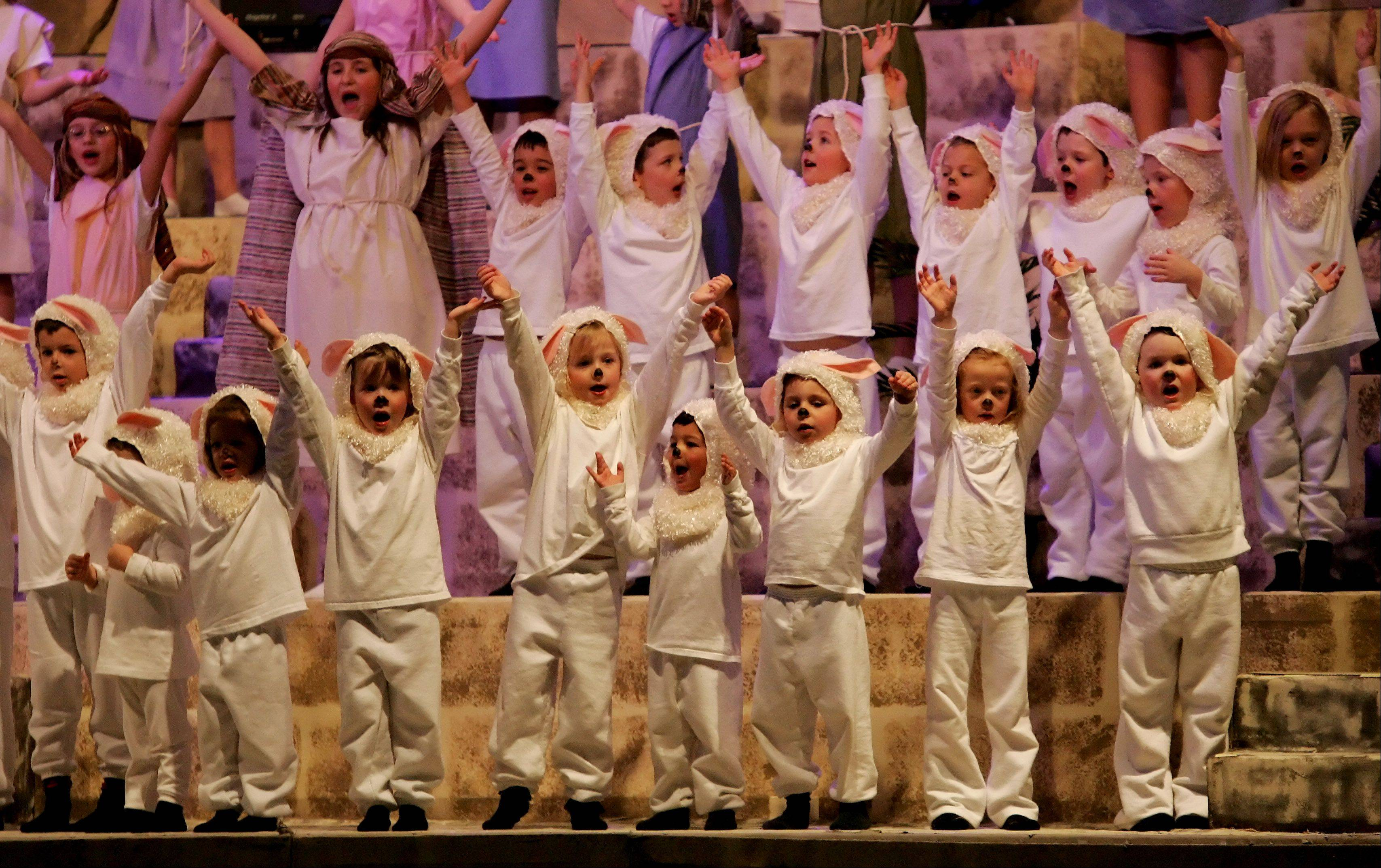 "Kids perform in last year's ""Bethlehem's Cry Heard Around The World"" pageant at Quentin Road Baptist Church in Lake Zurich."