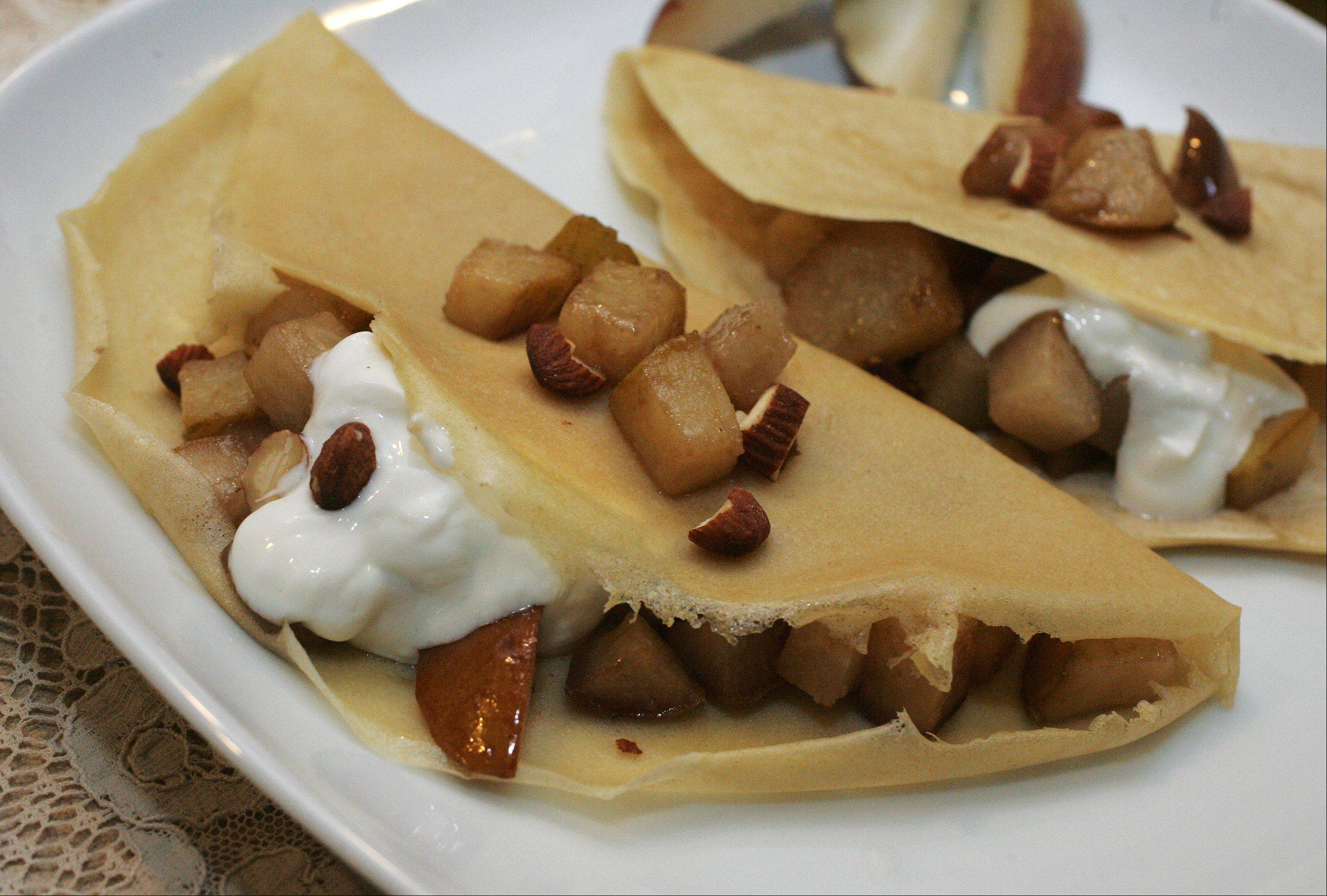 Holiday Pear Crepes