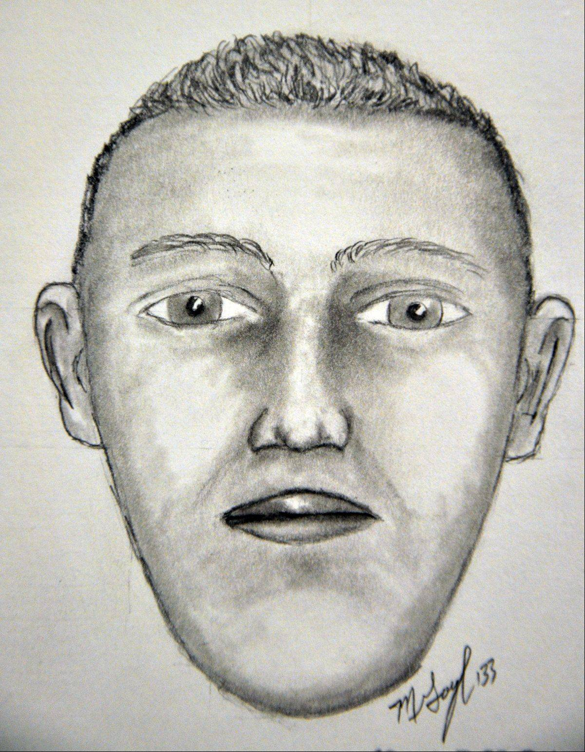 This is a sketch of a man police believe was responsible for an armed robbery late last month.