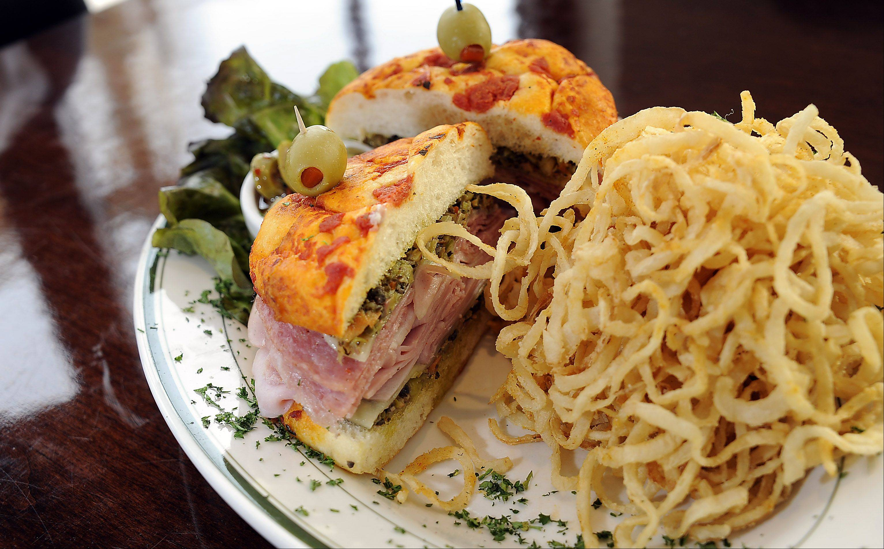 Muffaletta is one of the several sandwiches on Stone Eagle Tavern's expansive menu.