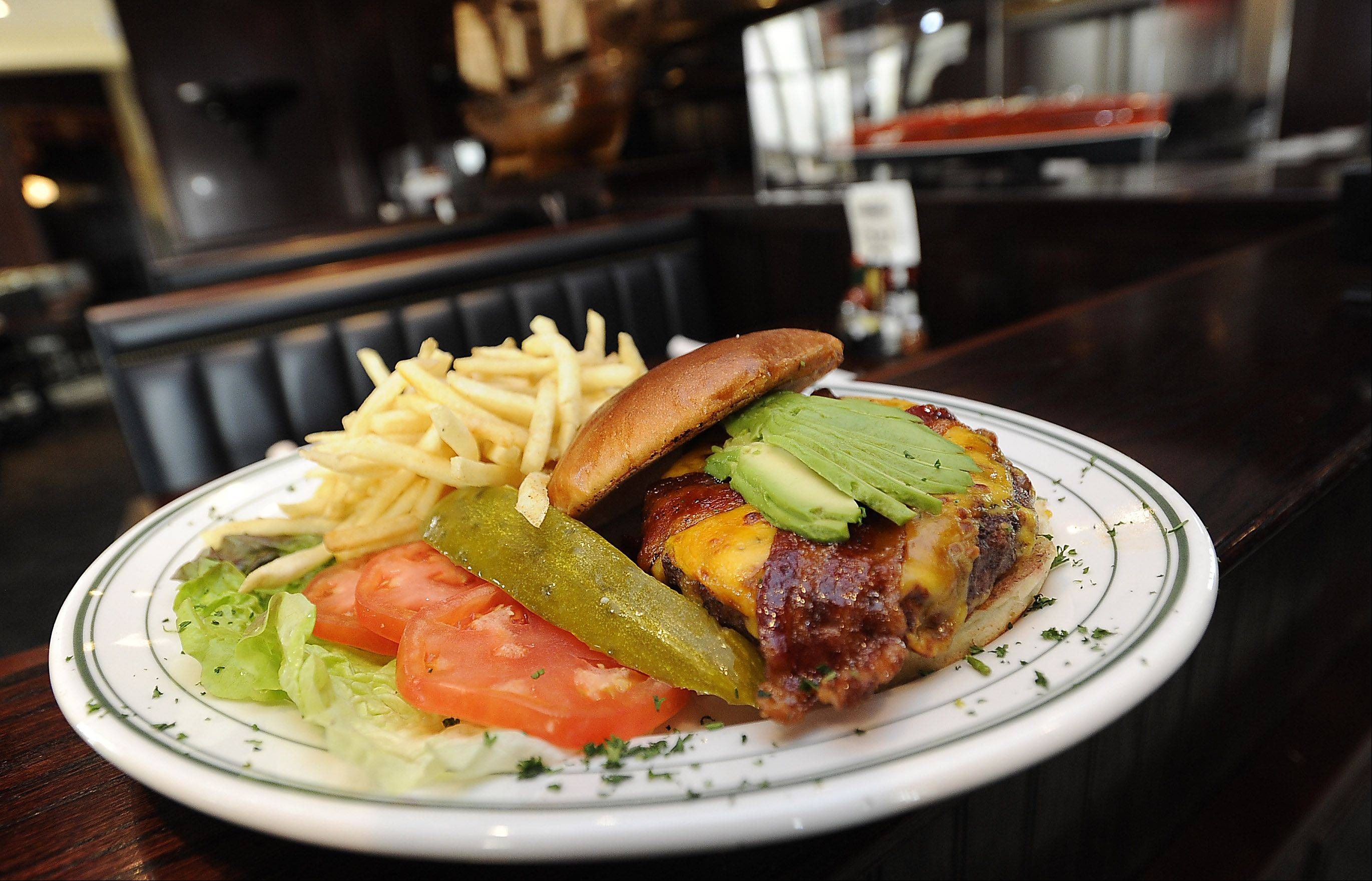 Stone Eagle Tavern's 10-ounce Jungle Jim burger will sate your hunger.