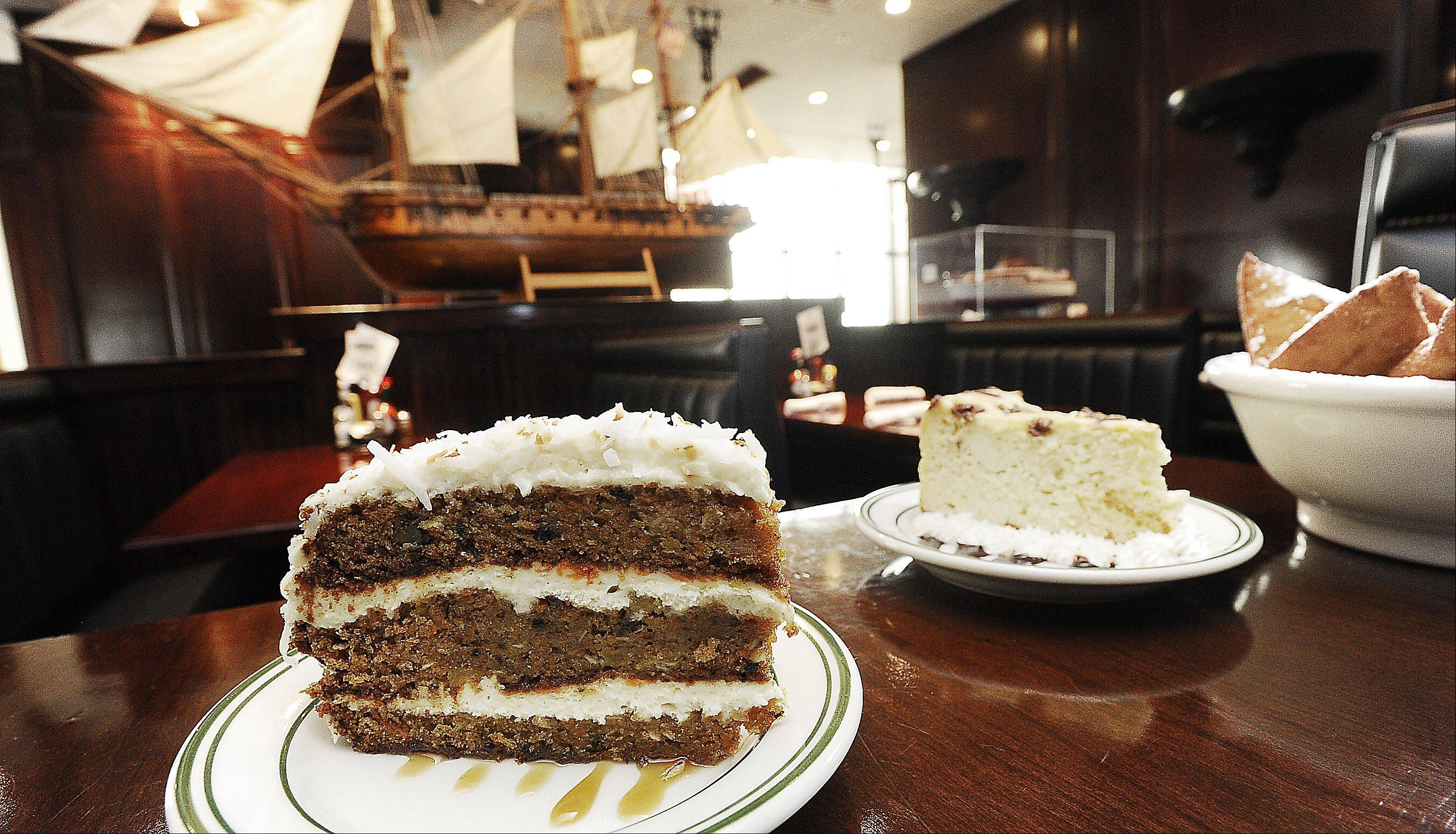 Carrot cake is among the homemade desserts at Stone Eagle Tavern in Hoffman Estates.