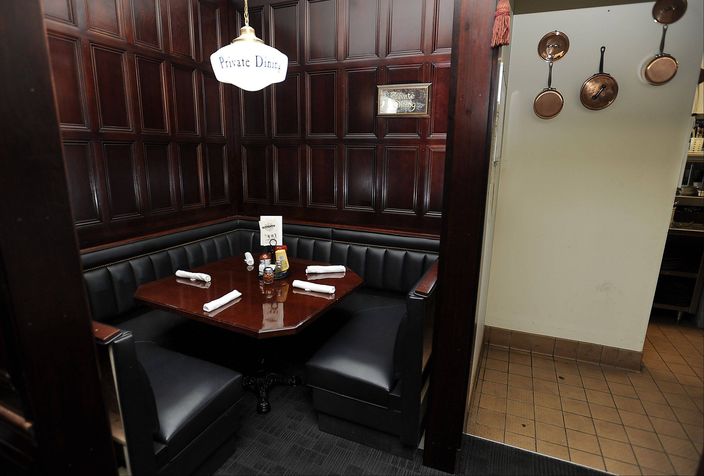 The private dining room at the Stone Eagle Tavern in Hoffman Estates is for those moments you want to eat away from the crowd.