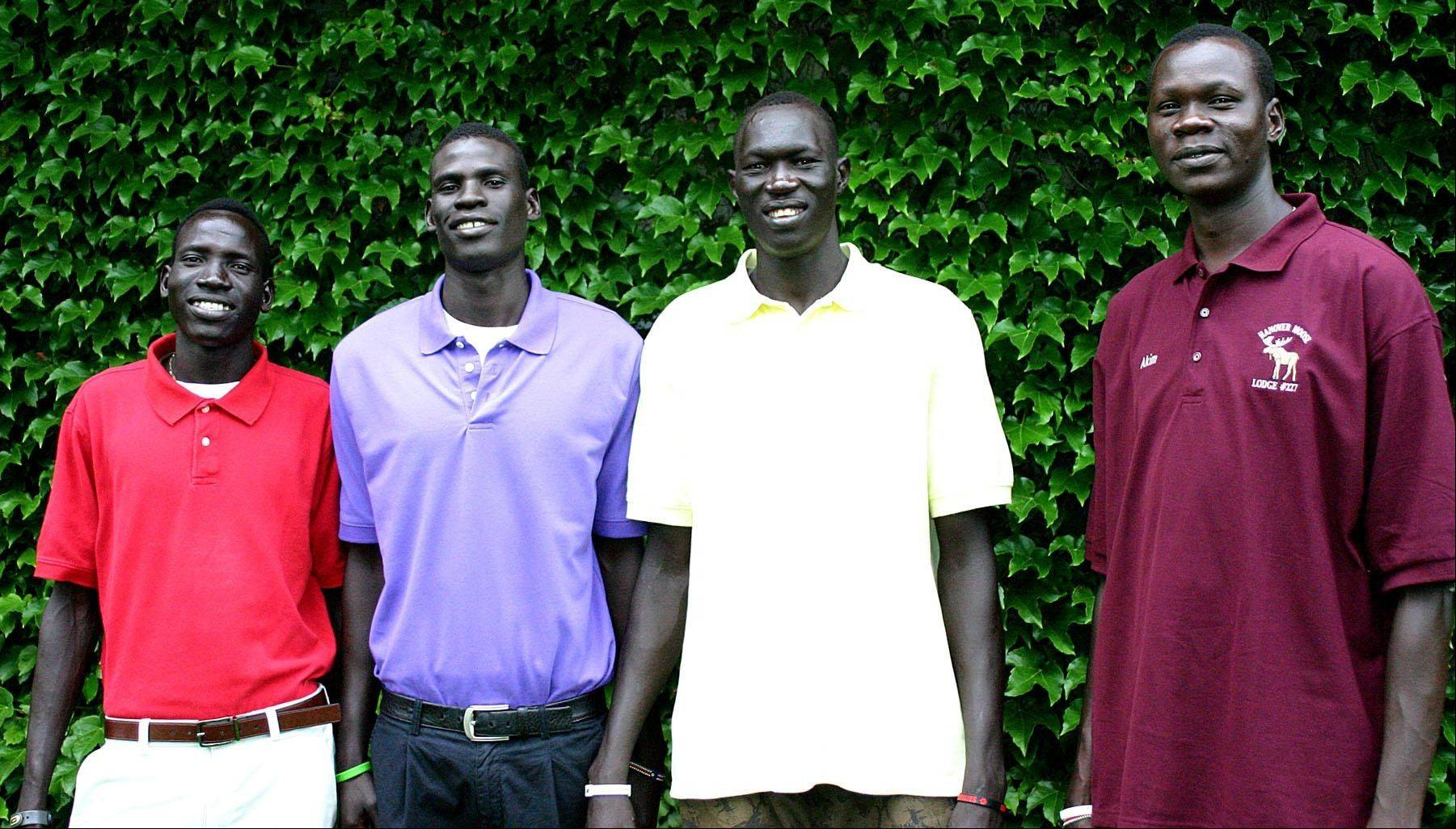 Four students from South Sudan are attending Mooseheart High School this year, including, from left, Wal Khat, Mangisto Deng, Makur Puou and Akim Nyang.