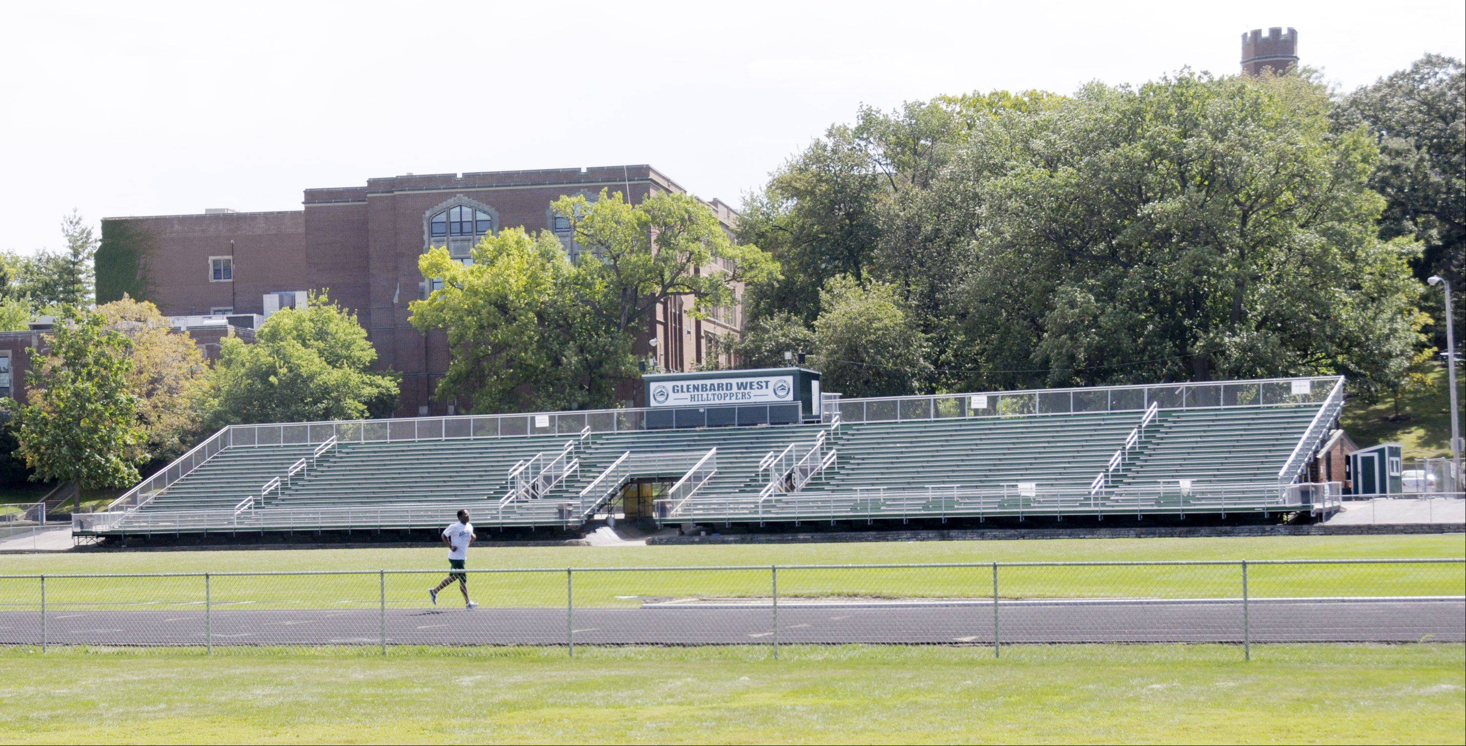 Replacement of the exterior running track at Duchon Field at Glenbard West High School is one of several proposed District 87 capital improvement projects announced this week.