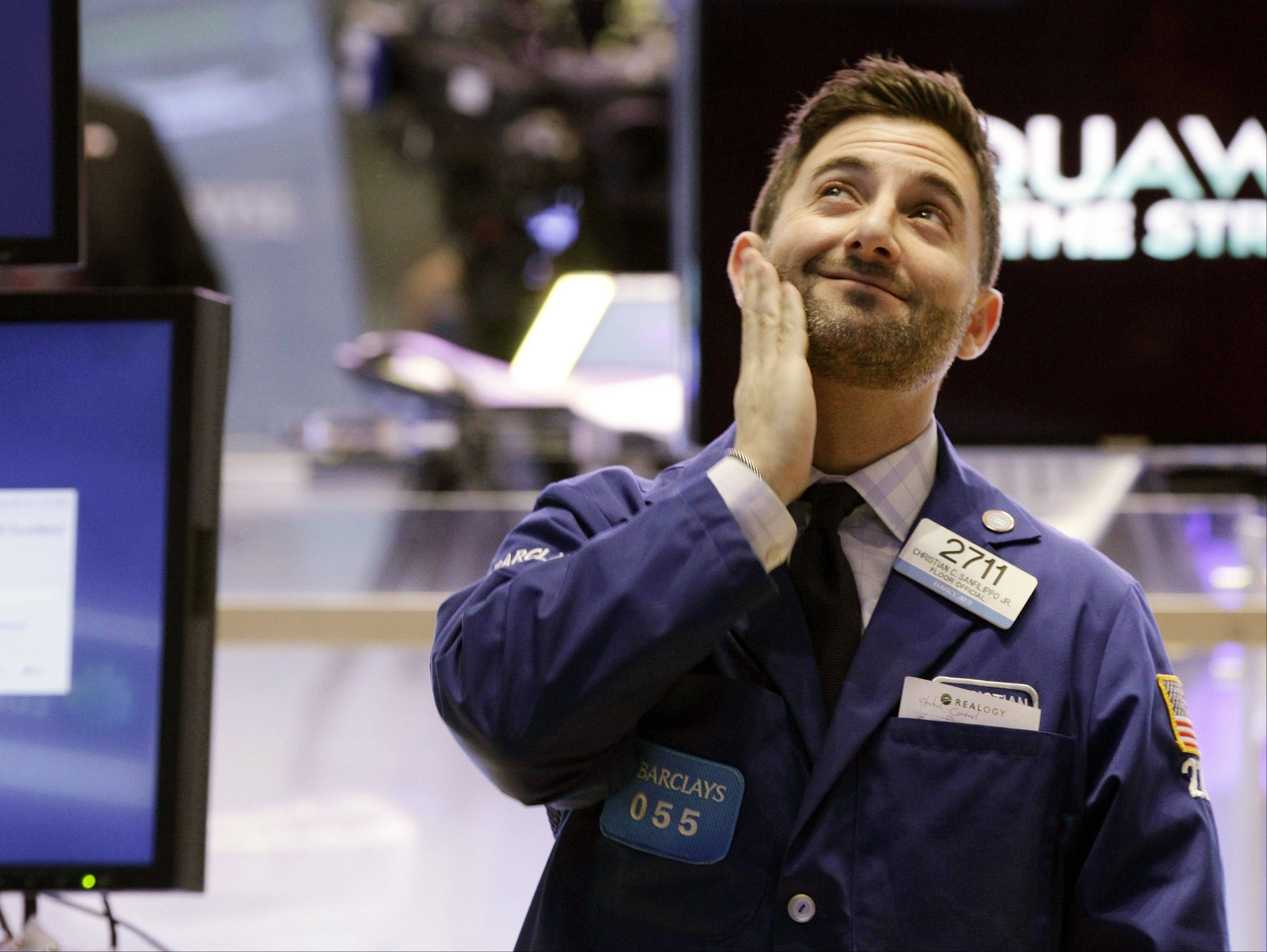 Specialist Christian Sanfilippo works Tuesday on the floor of the New York Stock Exchange.