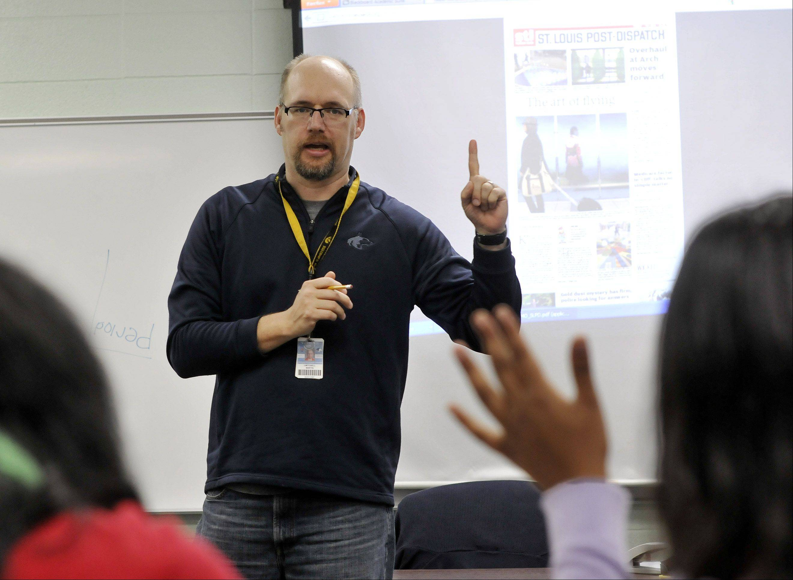 English teacher Mitch Martin is used to working with high school students at Naperville North, but his first book is geared to youngsters ages 4 to 8.