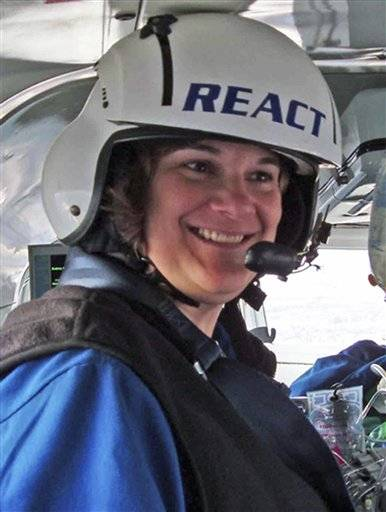 Flight nurse Karen Hollis, 48. Hollis was one of three people killed when a Rockford Medical Center REACT helicopter crashed Monday night, Dec. 10, 2012, in a field near Rochelle, Ill., while traveling between two northern Illinois hospitals. No patients were aboard when the helicopter went down.