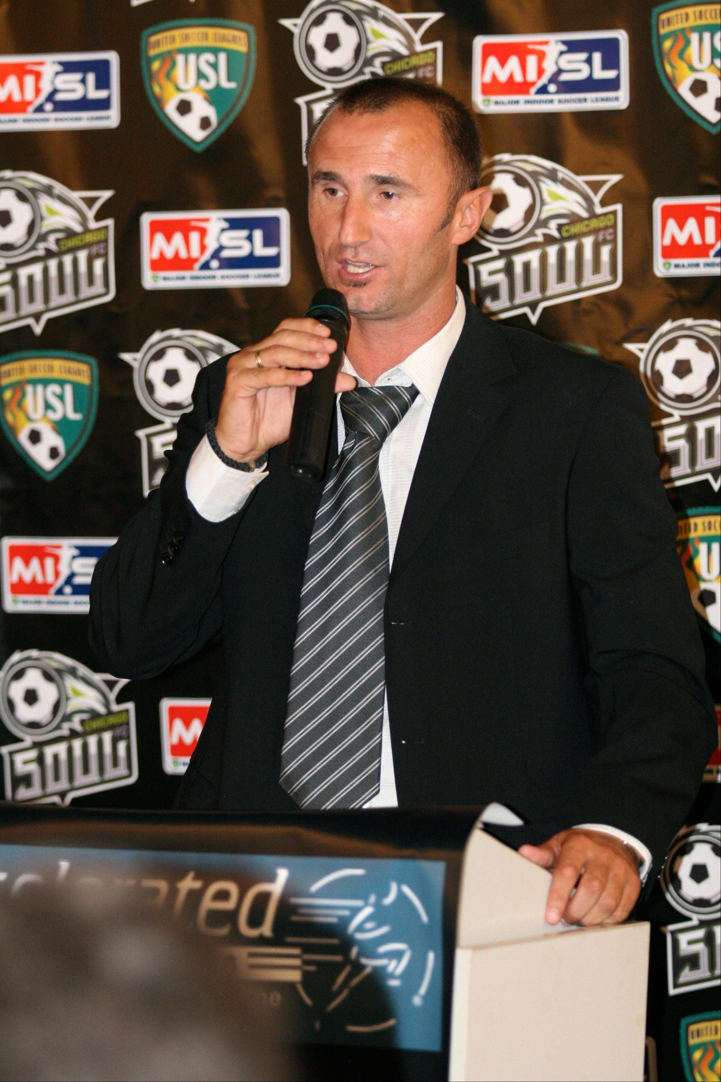 MISL veteran Novi Marojevic will take over the head coaching duties for the Chicago Soul, the professional indoor soccer club in its first season at the Sears Centre.
