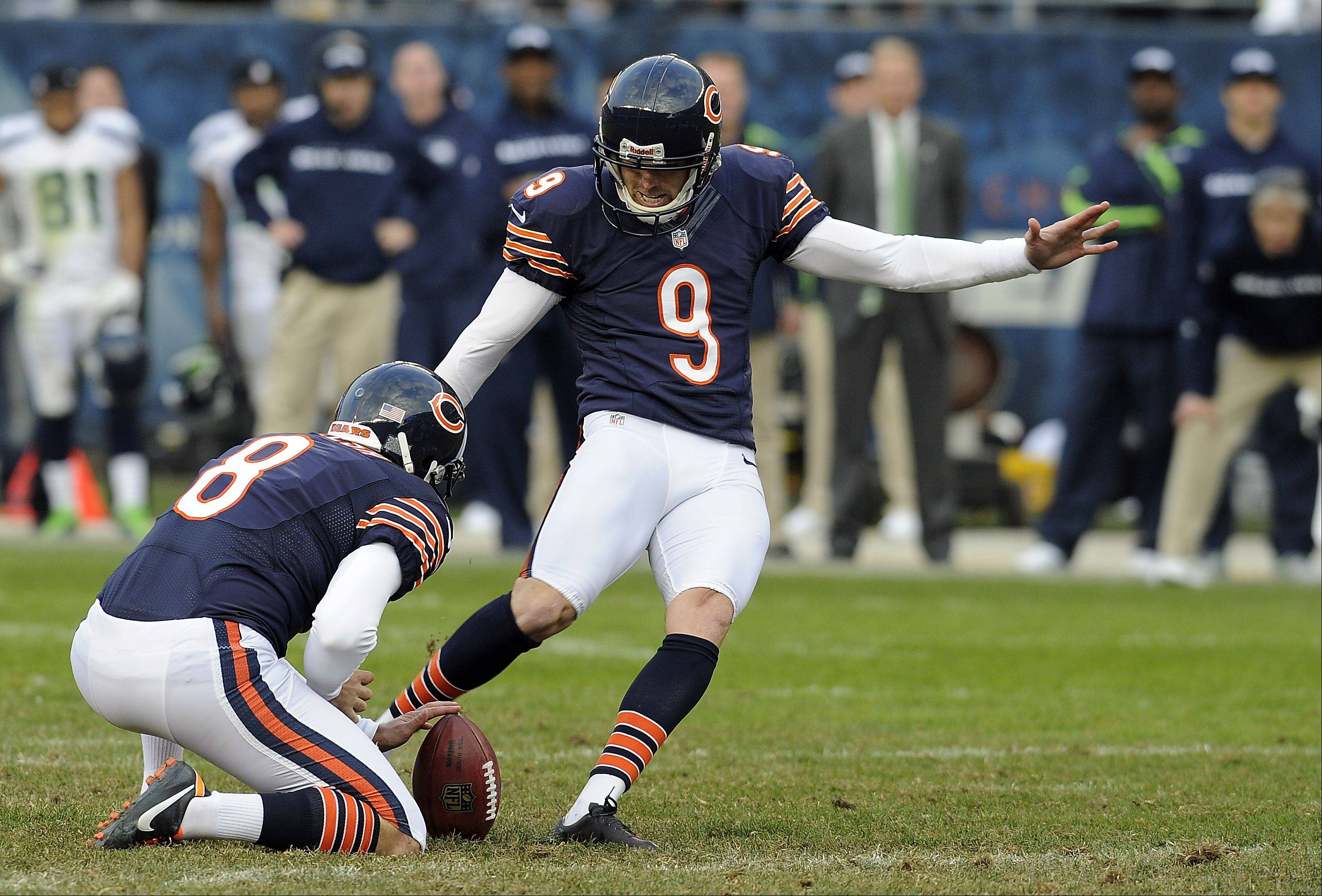 The Bears placed kicker Robbie Gould (9) on injured reserve Tuesday and signed NFL veteran Olindo Mare as a replacement.