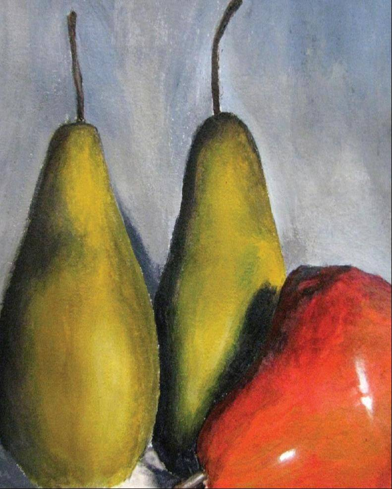 "Hampshire High School student artist AJ Mabini's piece, ""Pears"" in acrylic."