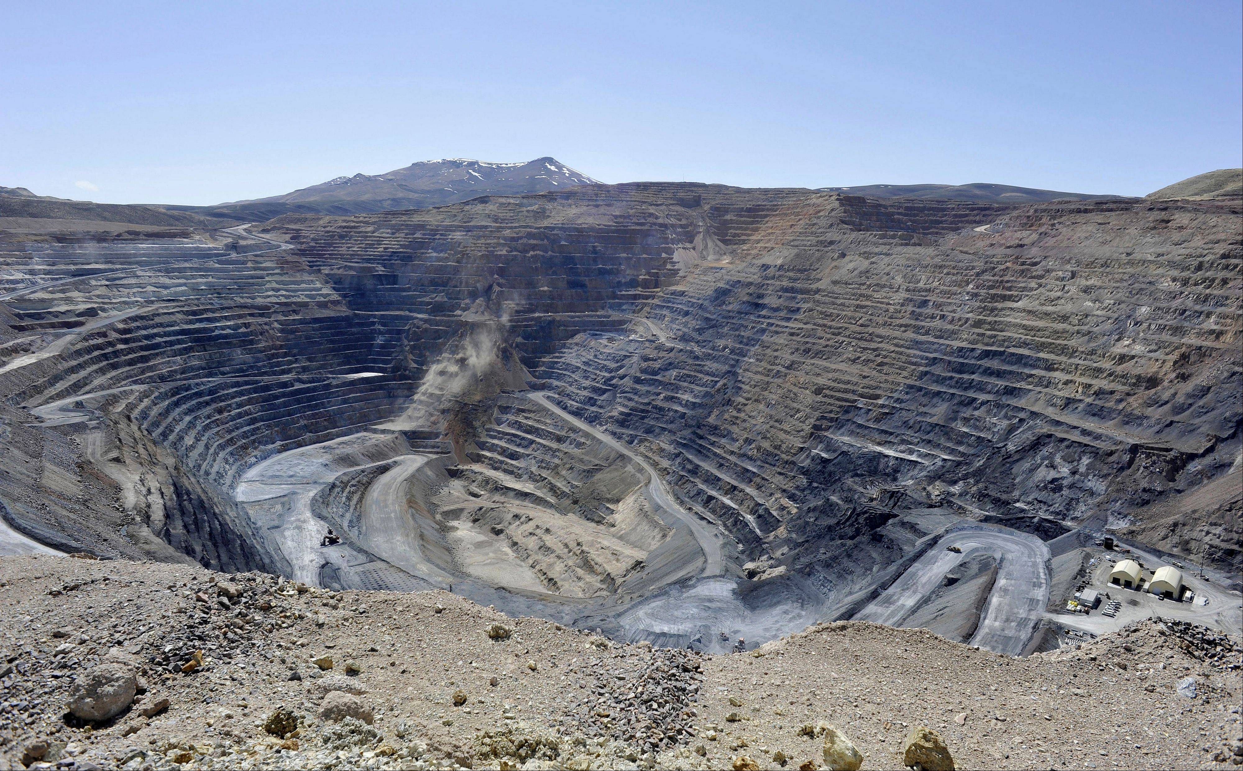 The Newmont Gold Quarry pit in Battle Mountain, Nev. While the U.S. government reaps billions of dollars in royalties each year from fossil fuels extracted from federal public lands and waters, it does not collect any royalties from gold, uranium or other metals mined from the same lands.