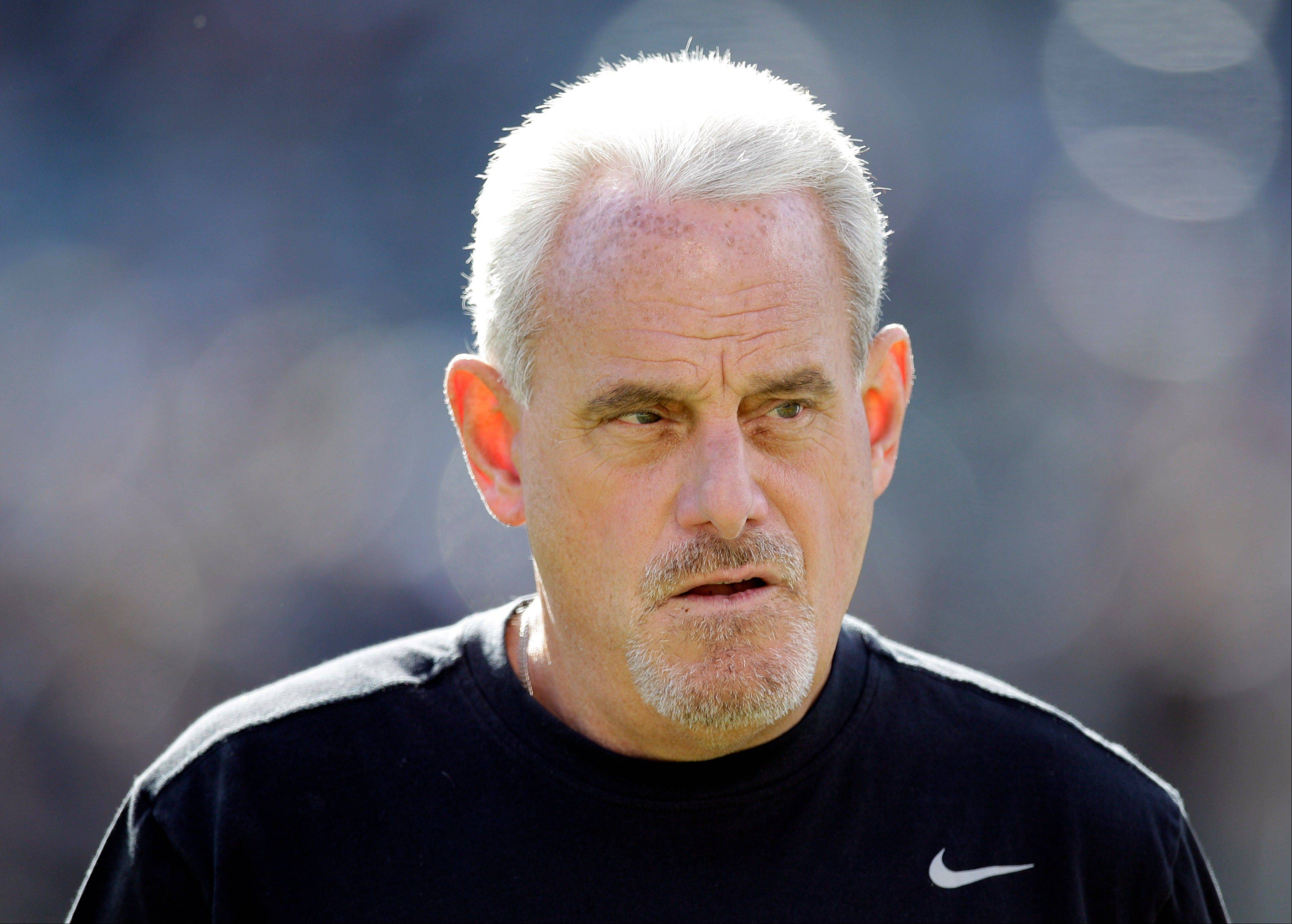 New Orleans Saints head coach Joe Vitt during a game against the Oakland Raiders. Former New Orleans defensive coordinator Gregg Williams said at an appeals hearing in the Saints bounty case that he tried to shut down the team's pay-for-pain system when the NFL began investigating but was overruled by Vitt, according to transcripts of the session that were obtained by The Associated Press.