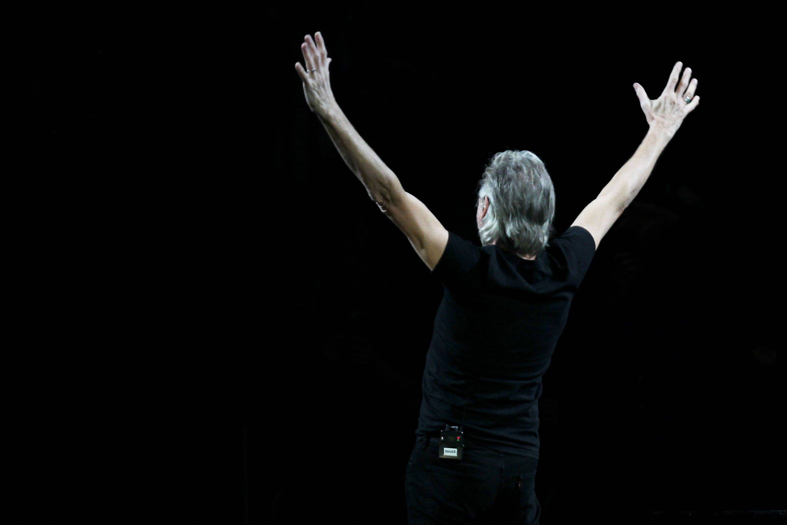 Roger Waters after performing Wednesday at the 12-12-12 The Concert for Sandy Relief at Madison Square Garden in New York.