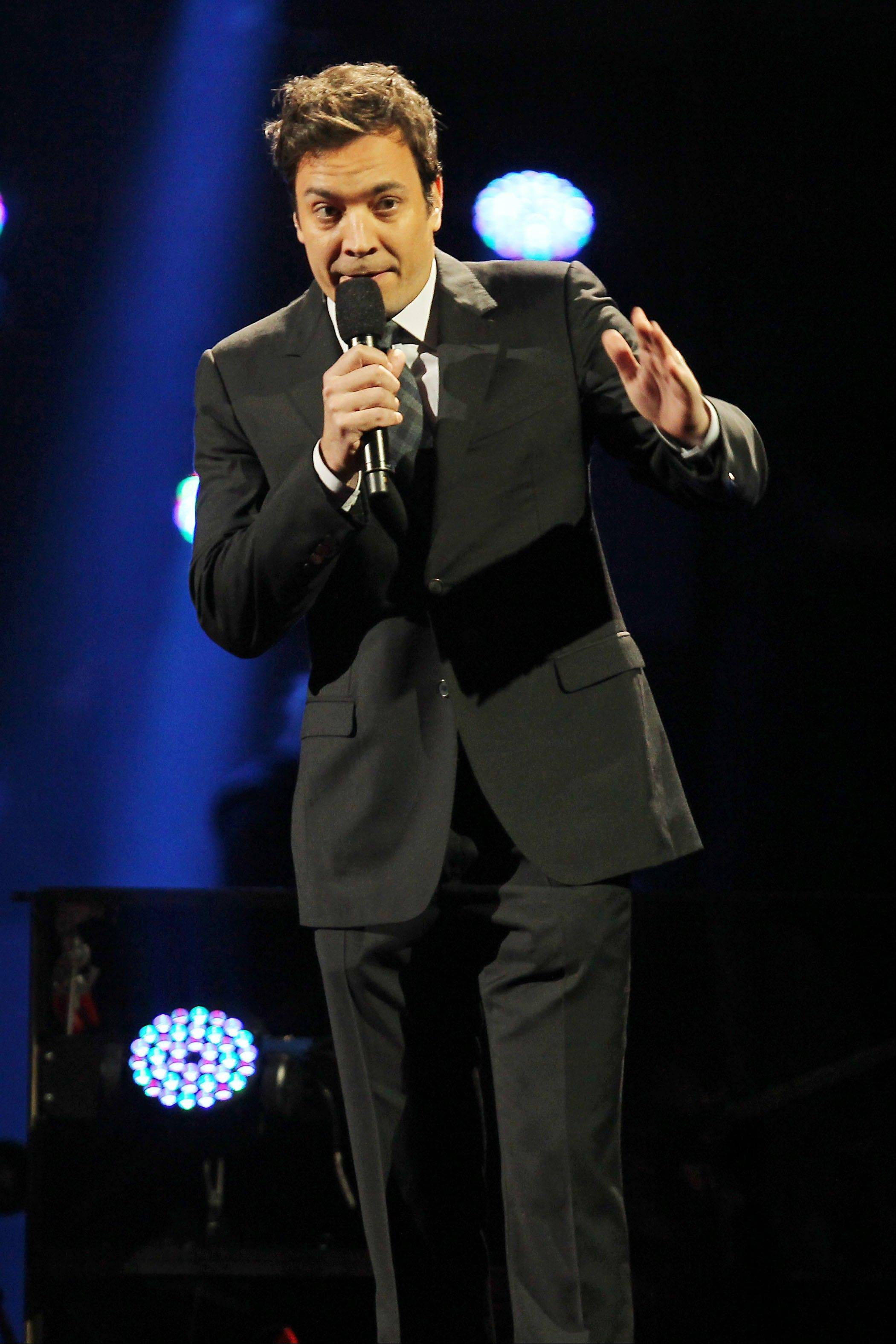 Jimmy Fallon at the 12-12-12 The Concert for Sandy Relief at Madison Square Garden in New York.