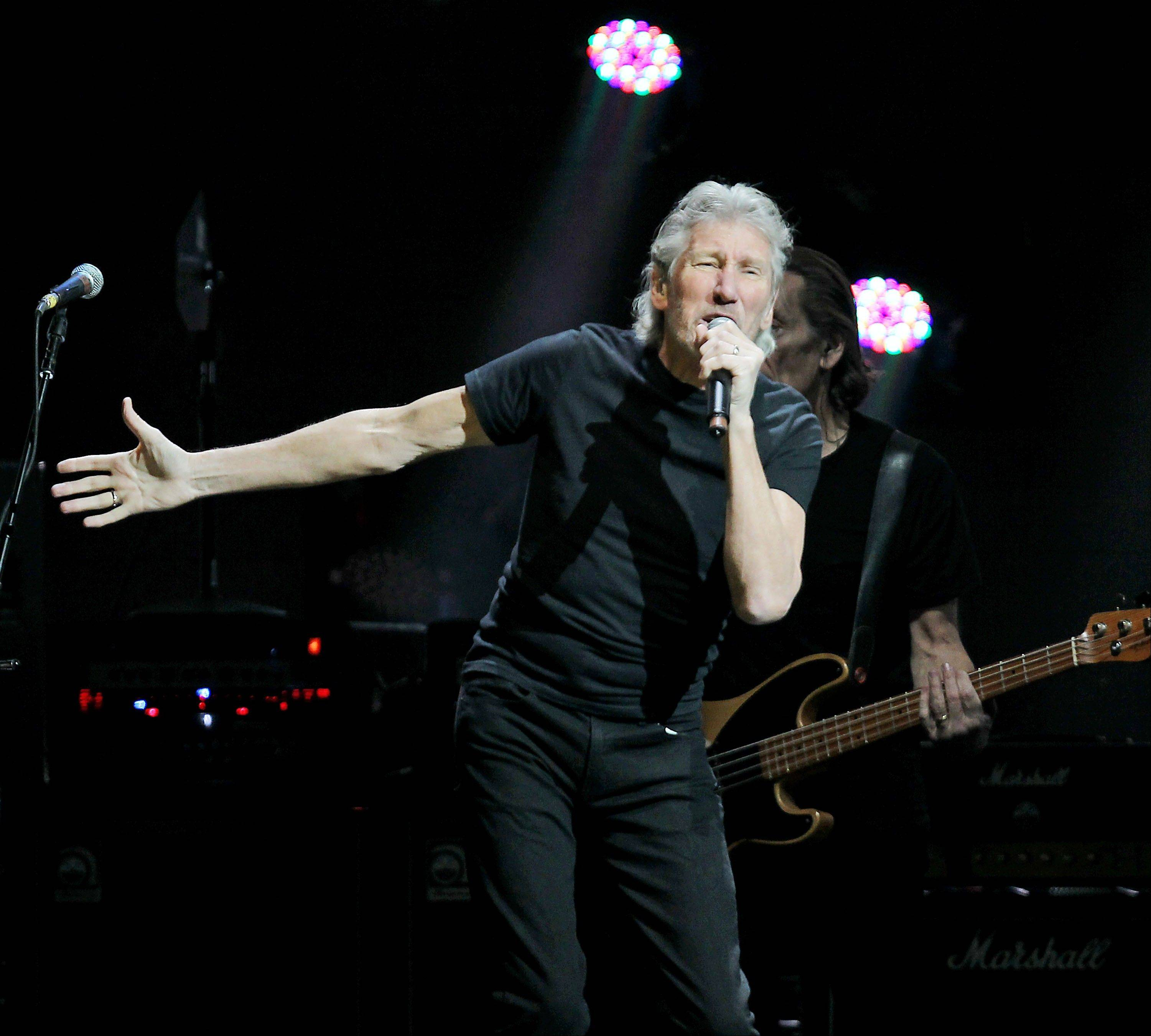 Roger Waters performs Wednesday at the 12-12-12 The Concert for Sandy Relief at Madison Square Garden in New York.