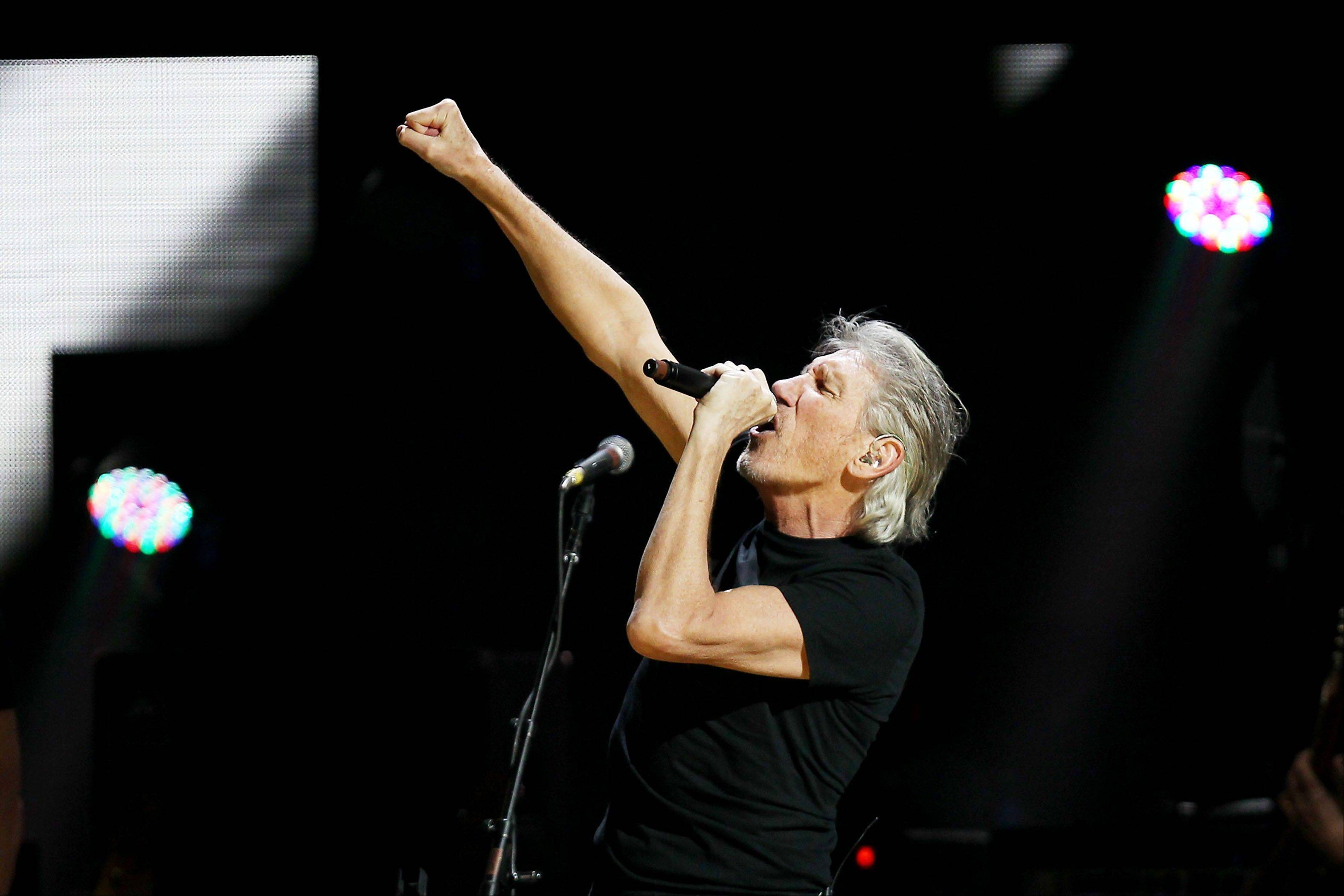 Roger Waters performing Wednesday at the 12-12-12 The Concert for Sandy Relief at Madison Square Garden in New York.