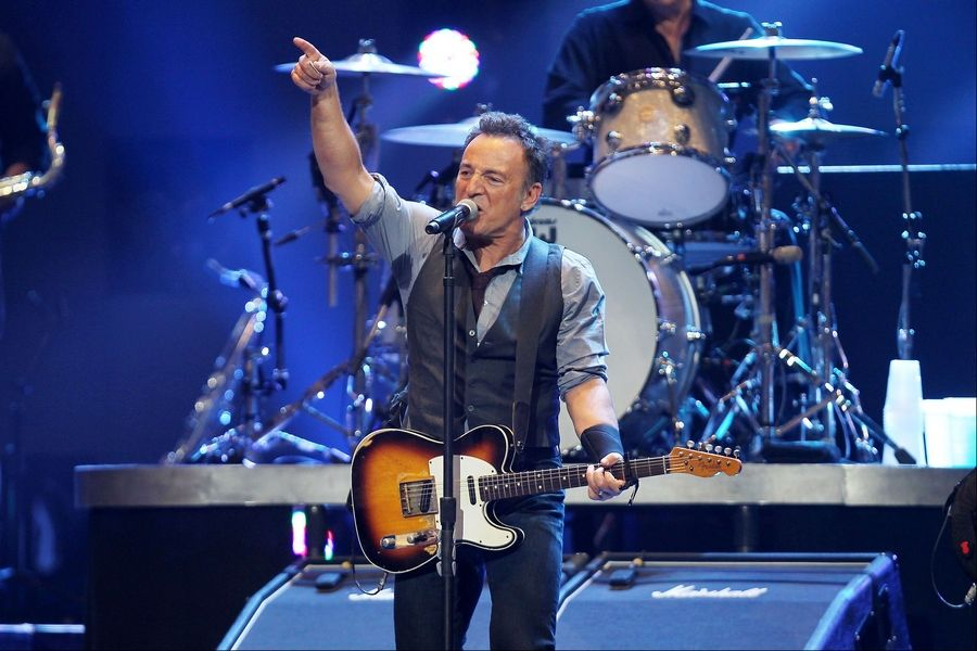 This image released Wednesday by Starpix shows Bruce Springsteen performing at the 12-12-12 The Concert for Sandy Relief at Madison Square Garden in New York.