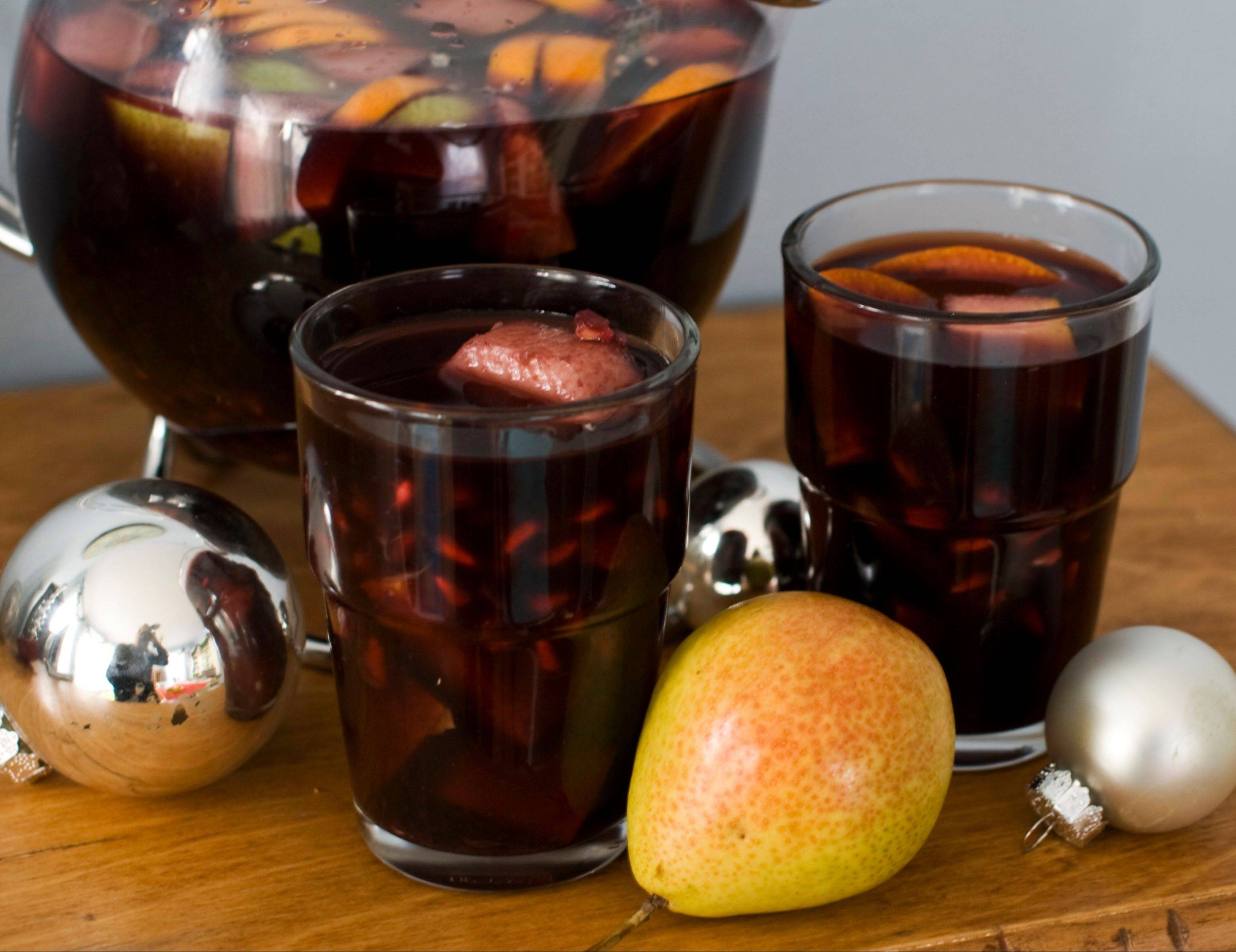 Greet guests with a glass of Christmas Sangria and they might not notice that the party food came from the drive-through.