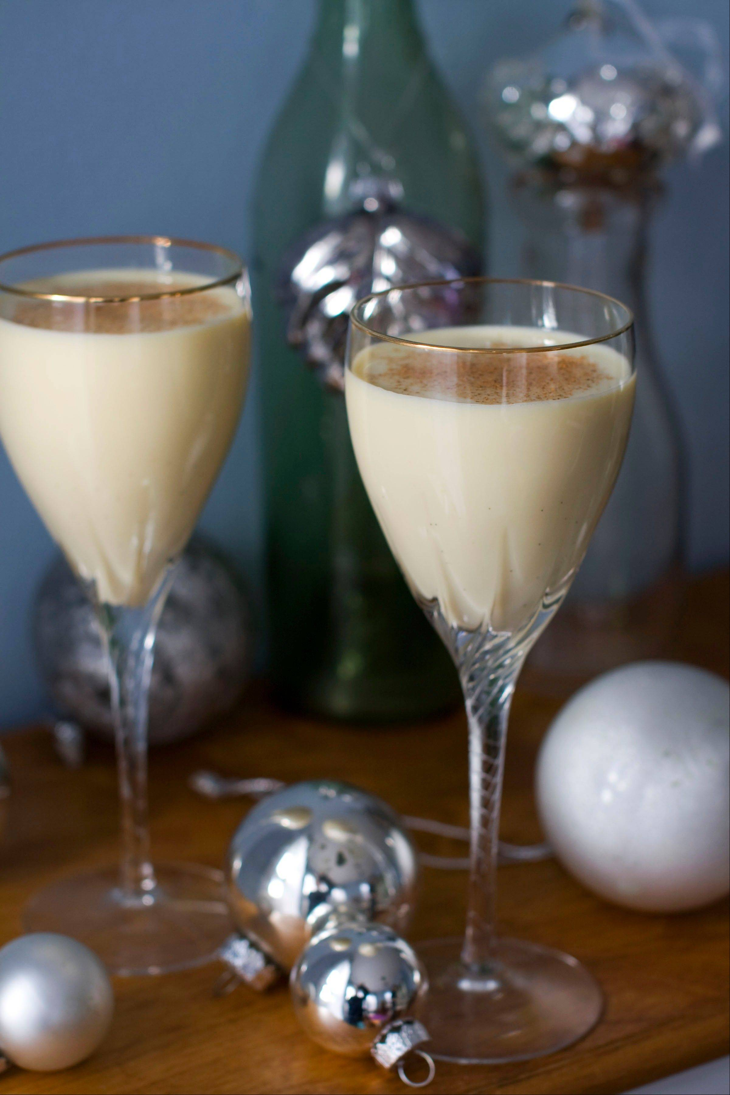 Chai spices and lower-fat milk lighten up eggnog without compromising its luxurious reputation.