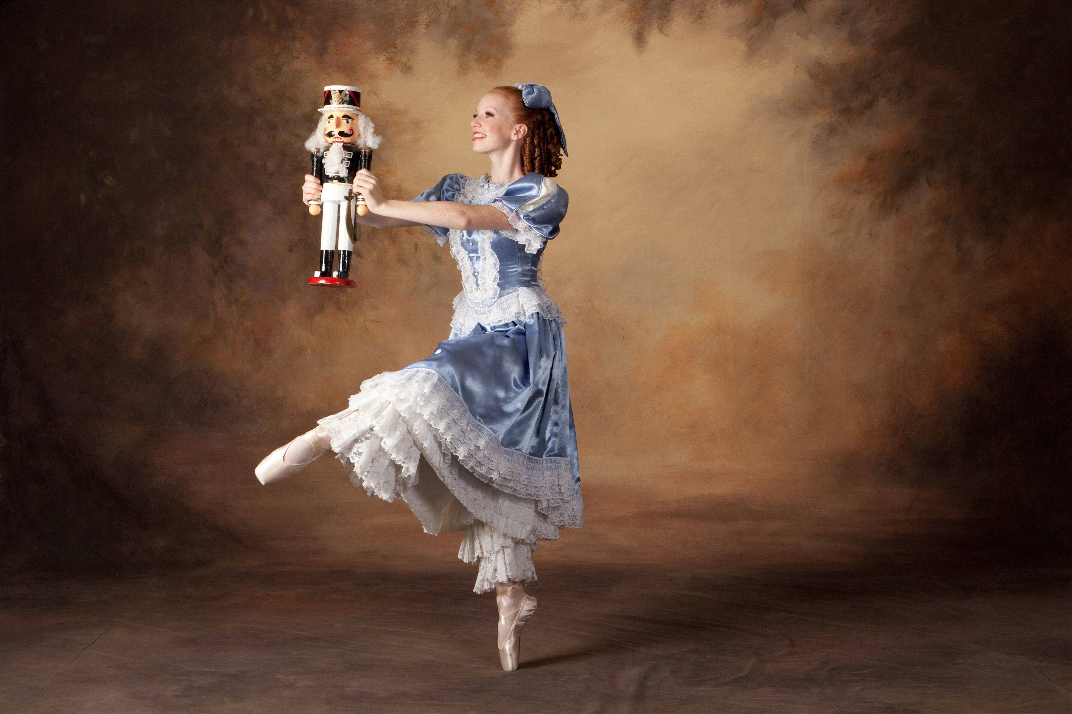 "Lindsey Ray stars as Clara in Dancenter North's ""The Magic of the Nutcracker"" at the Genesee Theatre in Waukegan."