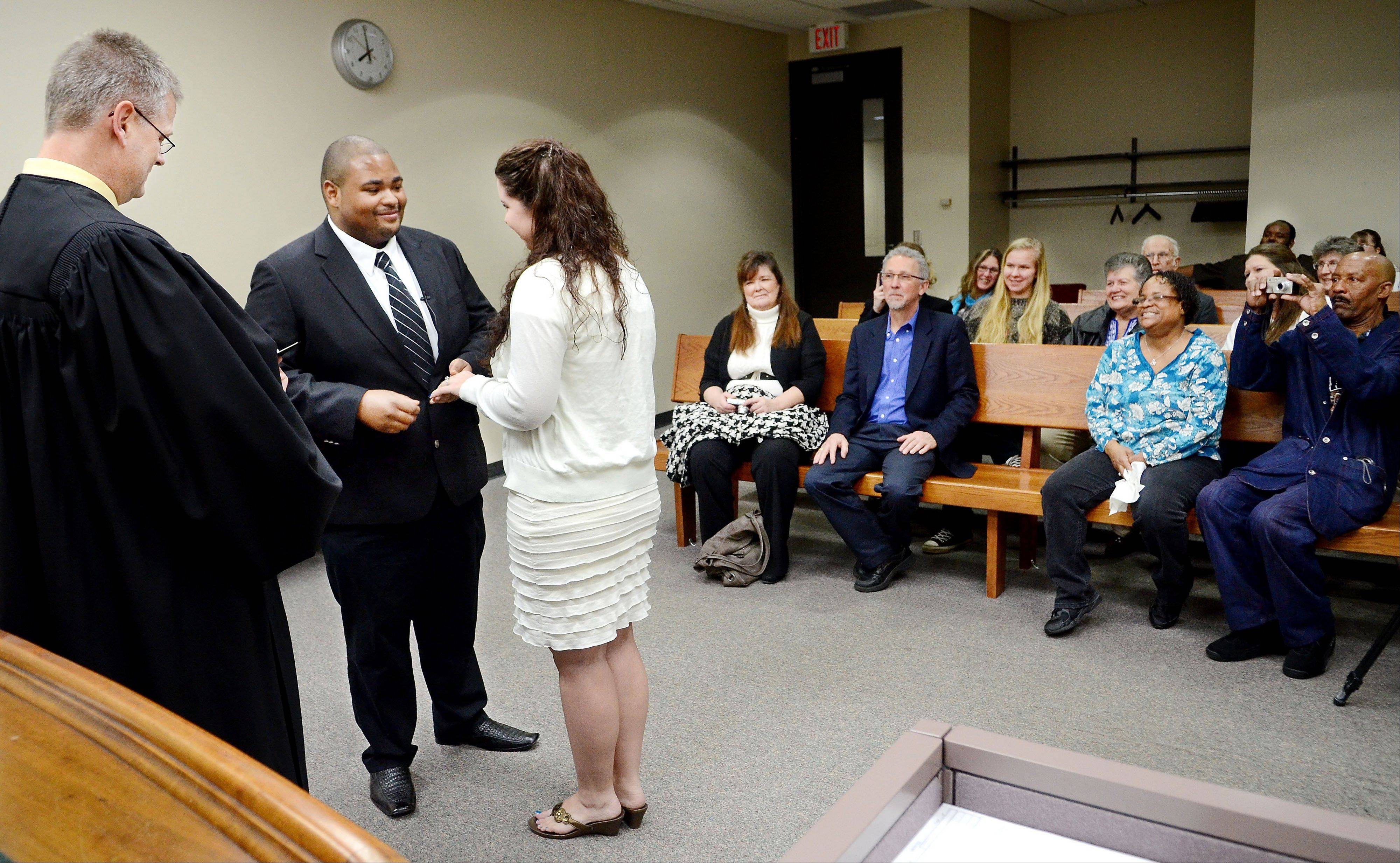 Kelsey Greene and Bruce Brown of Eau Claire, Wis., were married Wednesday in front of friends and family at the Eau Claire County Courthouse by Court Commissioner Nathan Novak.