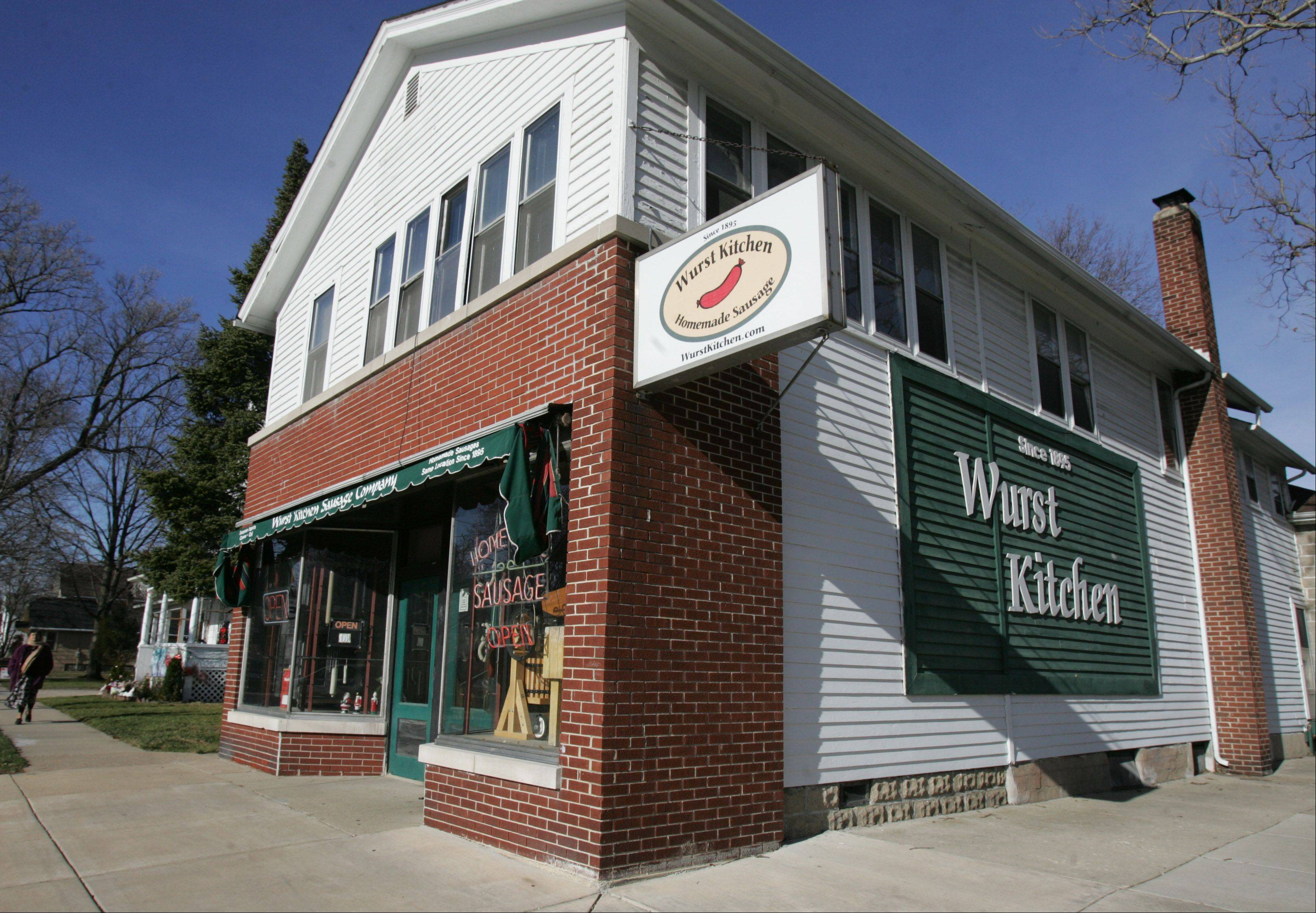 The Wurst Kitchen, at 638 2nd Ave. and Union Street, is the oldest retail shop in Aurora.