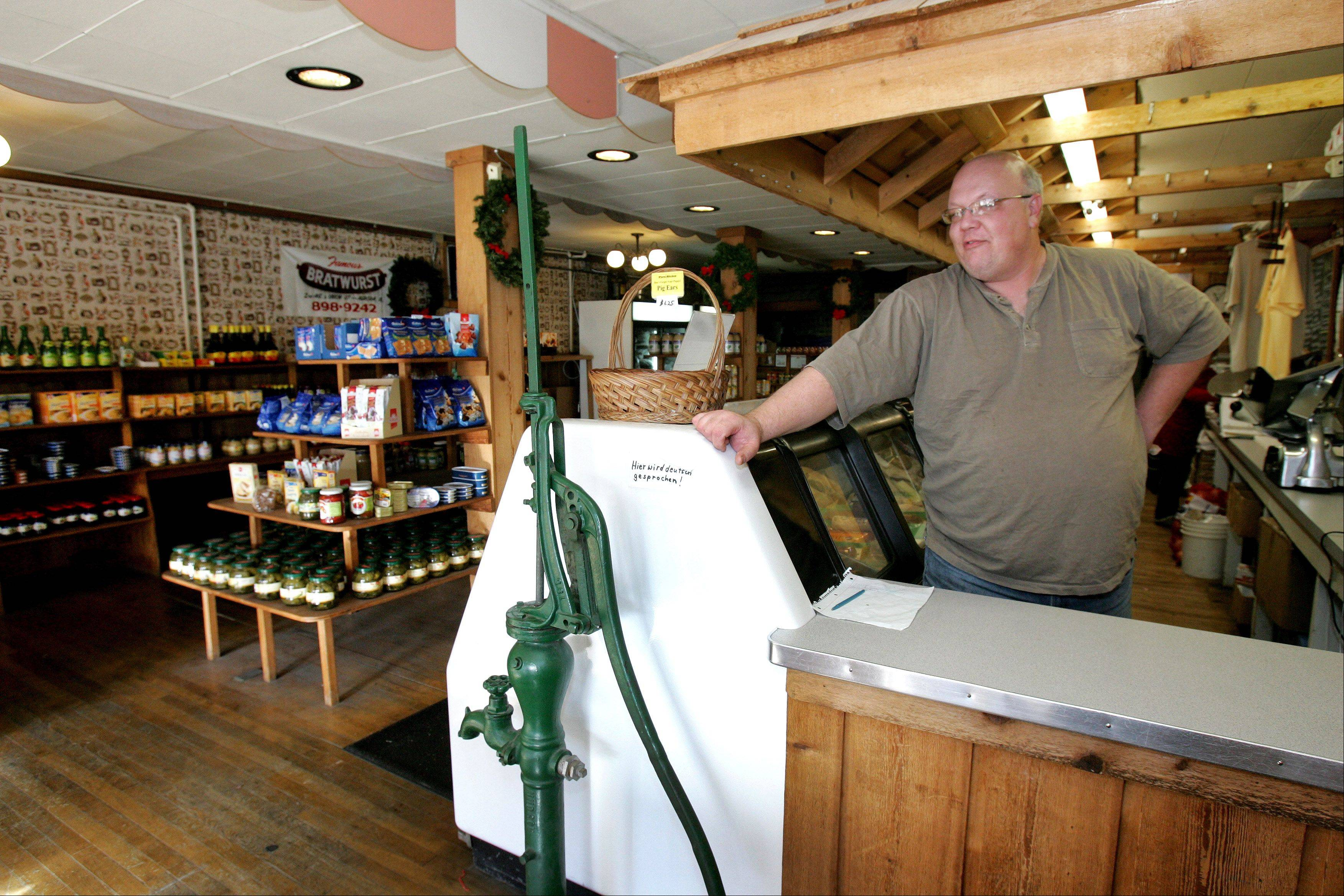 Aurora native Ed Schleining bought Wurst Kitchen 18 years ago and has changed little in the shop, which originally opened as Arnold Meat Market in 1895.