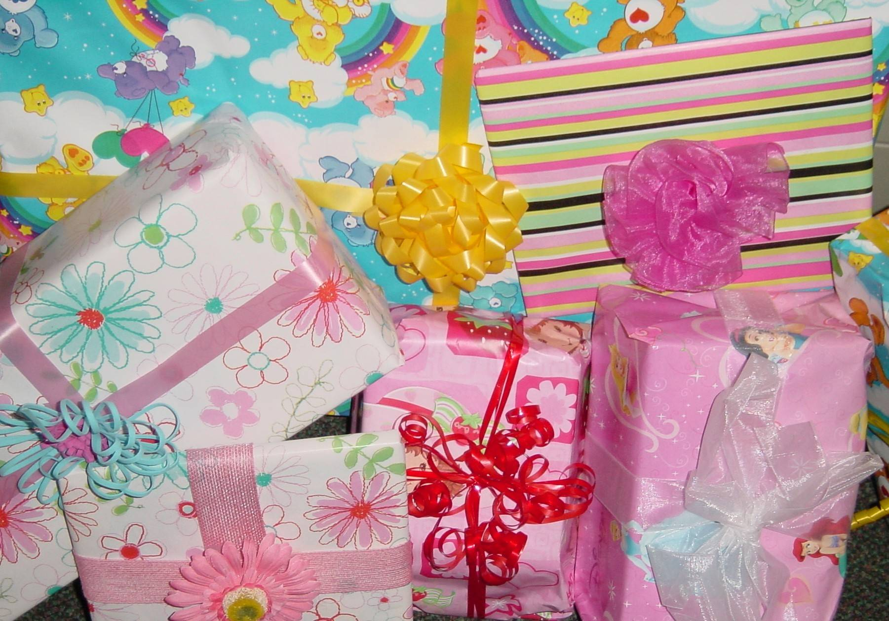 Gifts wrapped for the needy children served by HSP's Children's Birthday Project