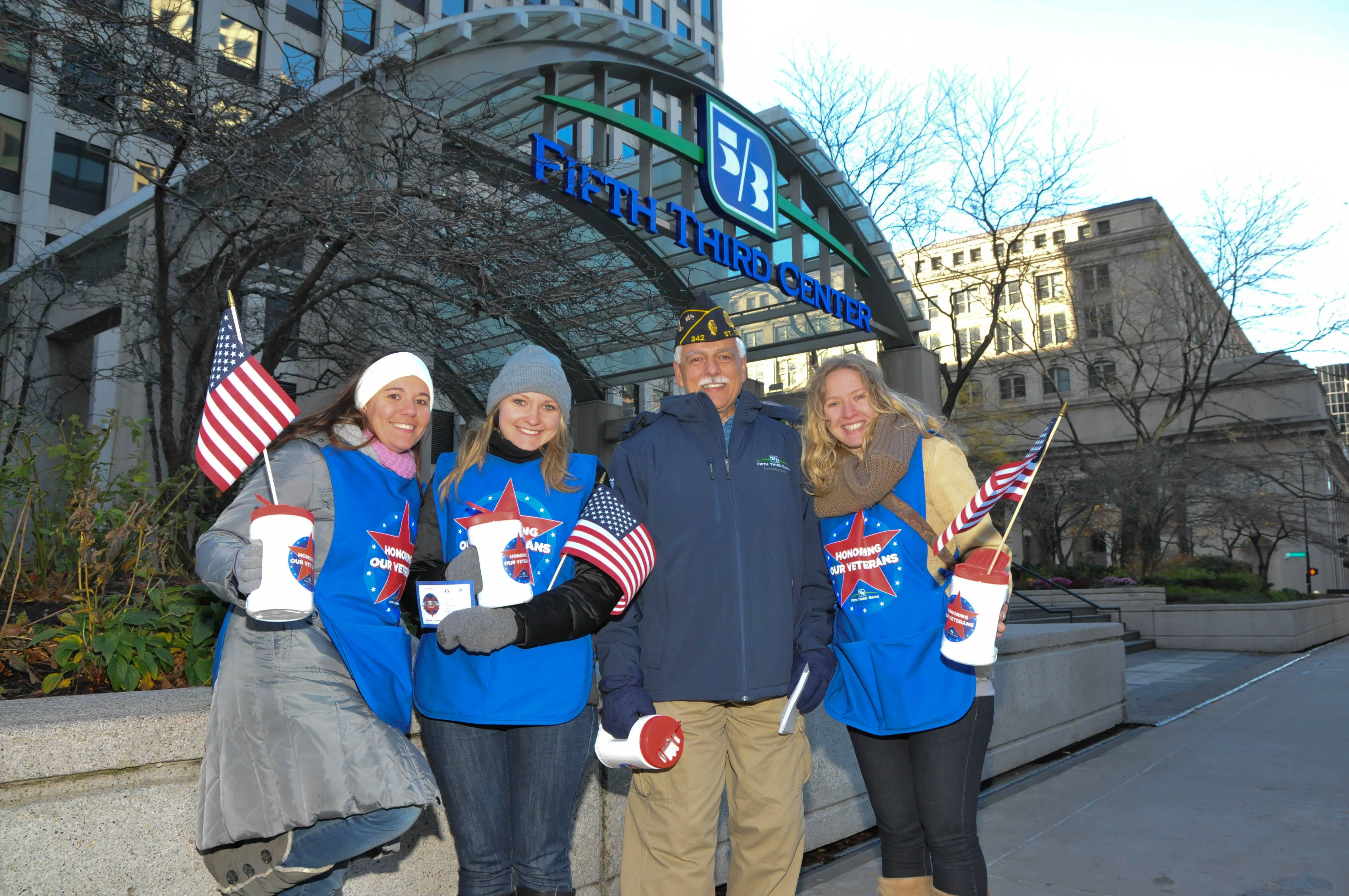 Fifth Third Bank employees joined local veterans to fundraise on Veterans day