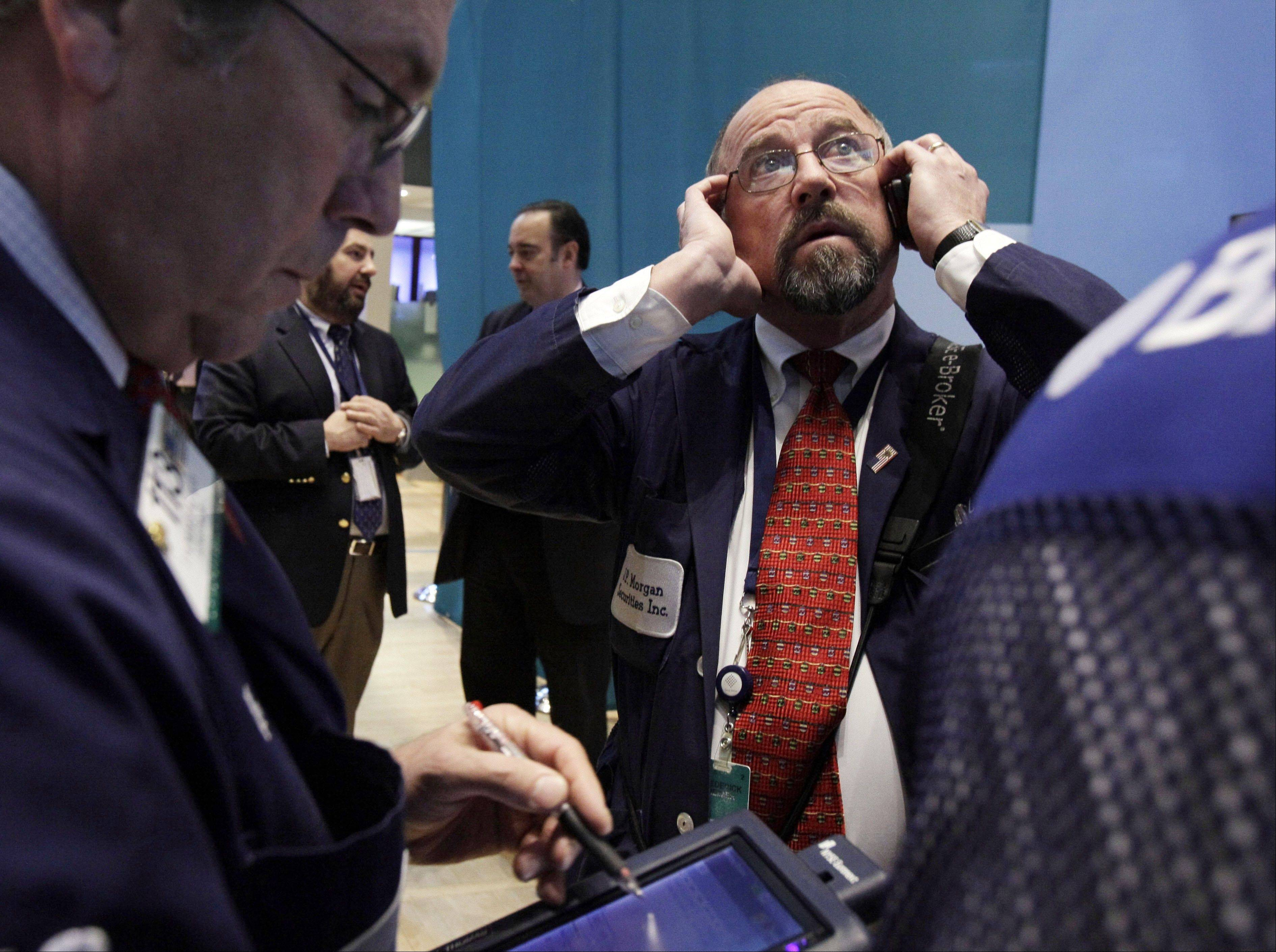 U.S. stocks retreated, snapping a six-day advance in the Standard & Poor�s 500 Index, as the standoff in federal budget negotiations overshadowed a decline in jobless claims and a rebound in retail sales.