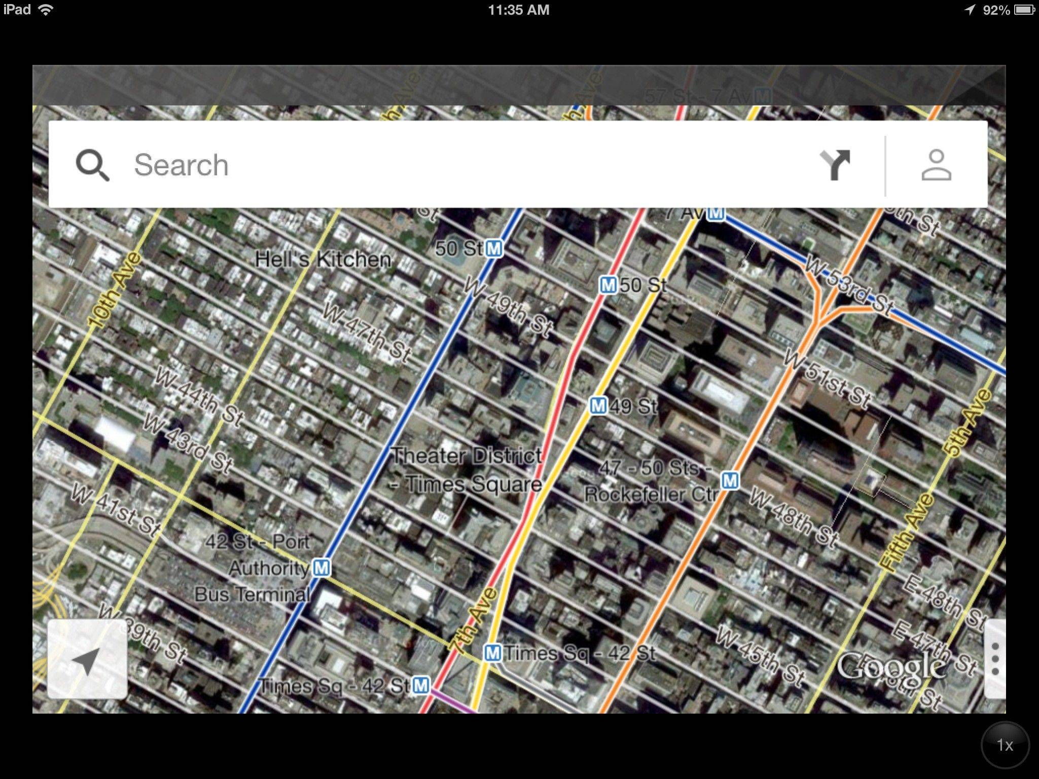 In this screenshot of an iPad, the new Google Maps application is demonstrated in New York on Thursday, Dec. 13, 2012. The world's most popular online mapping system returned late Wednesday with the release of the Google Maps iPhone app. The release comes nearly three months after Apple Inc. replaced Google Maps as the device's built-in navigation system and inserted its own map software into the latest version of its mobile operating system.