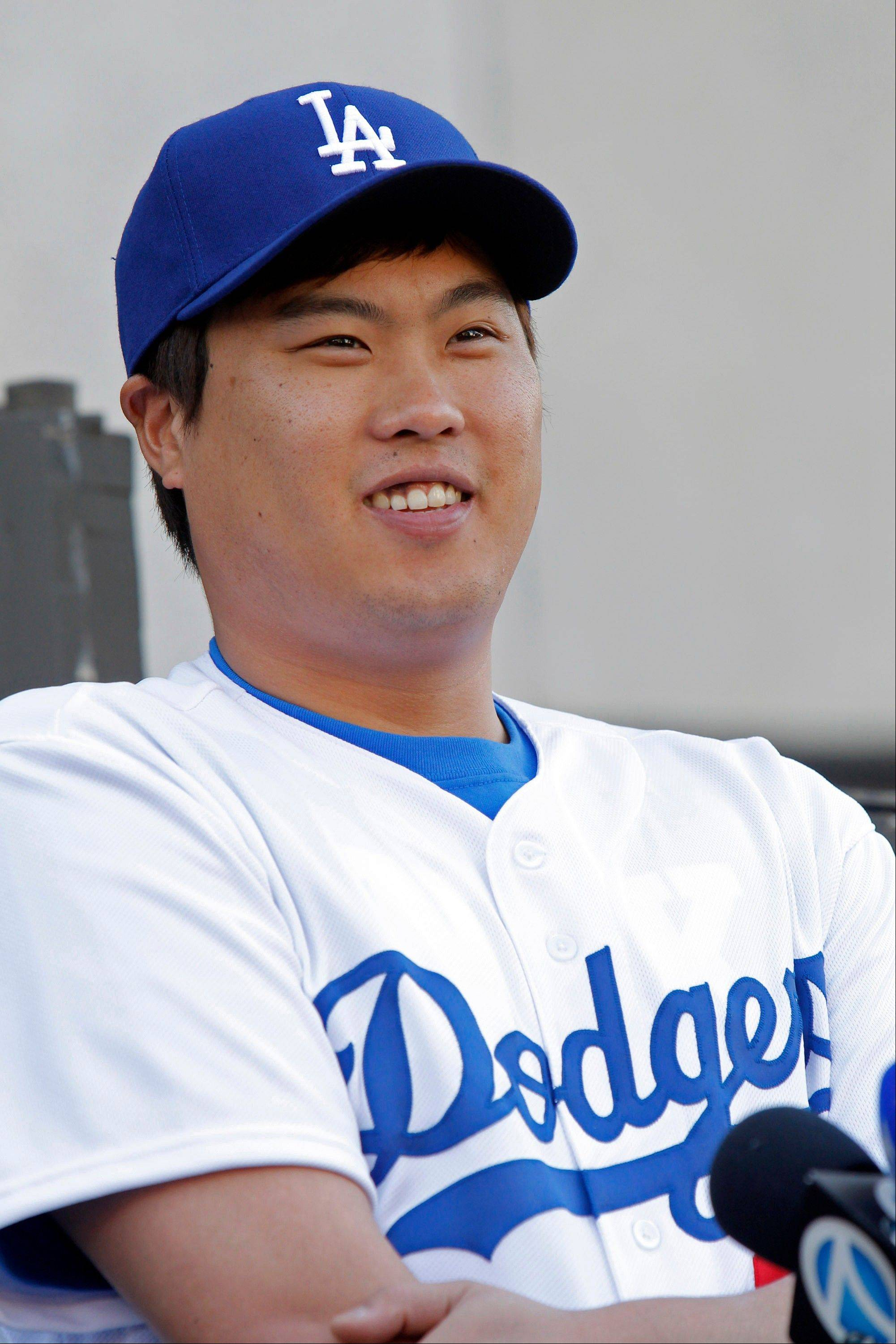 Los Angeles Dodgers left-handed pitcher Ryu Hyun-jin, of South Korea, signed a six-year, $36 million deal with the team.