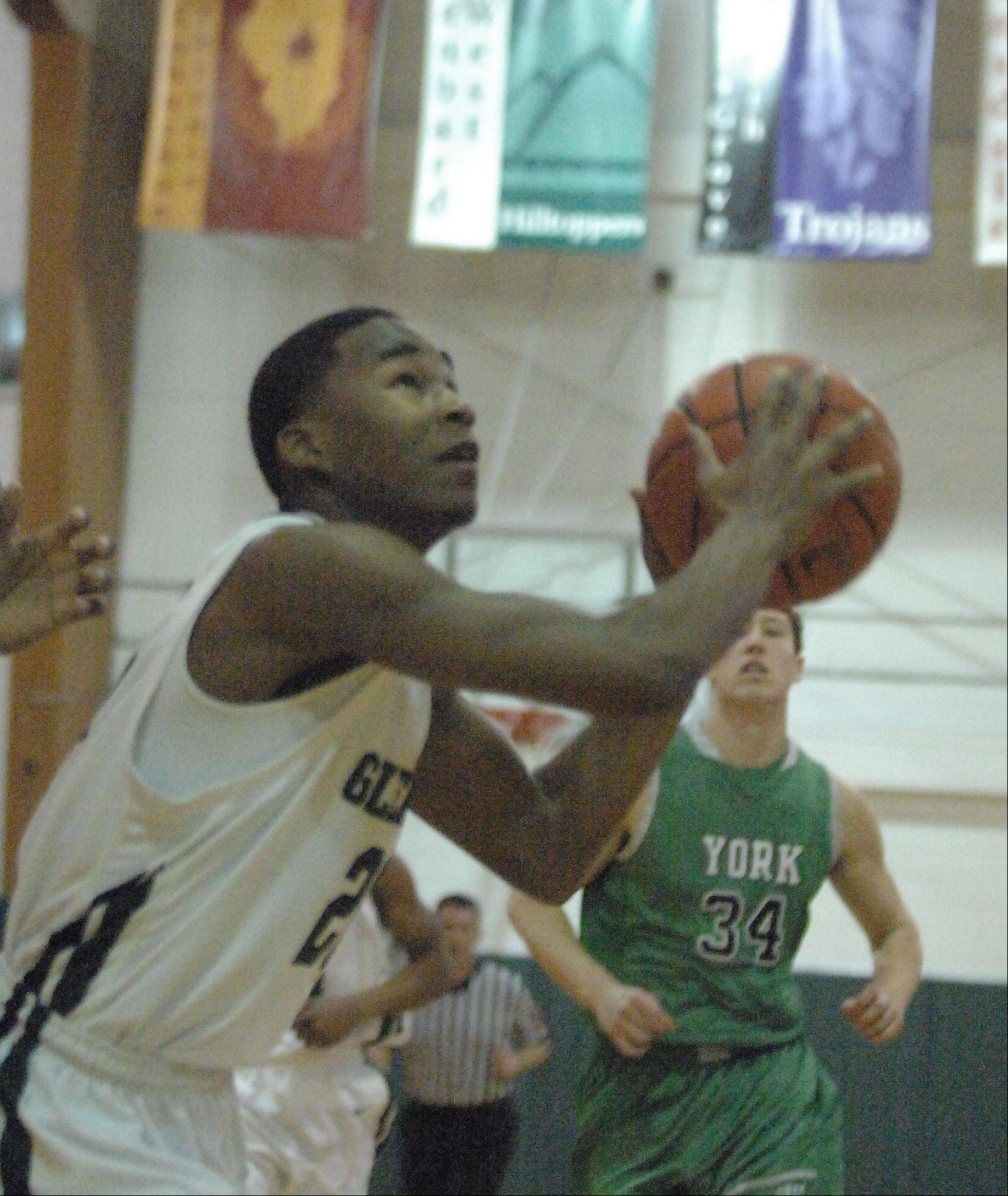 Images from the York vs. Glenbard West boys basketball game on Friday, Dec. 14, 2012.