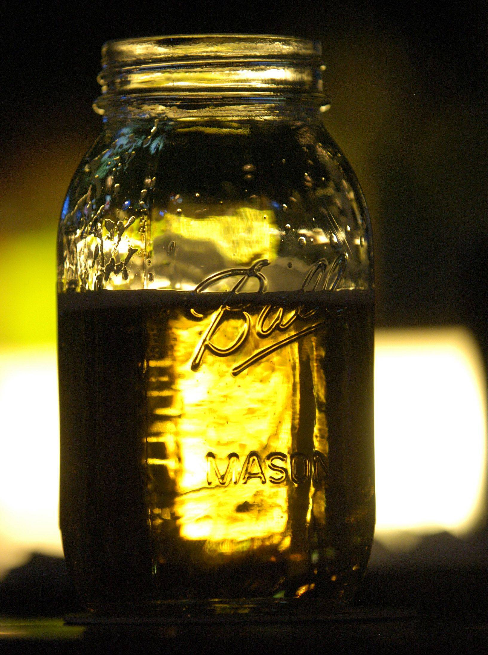 Drink your beer from a Mason jar at Toby Keith's I Love This Bar & Grill in Rosemont.