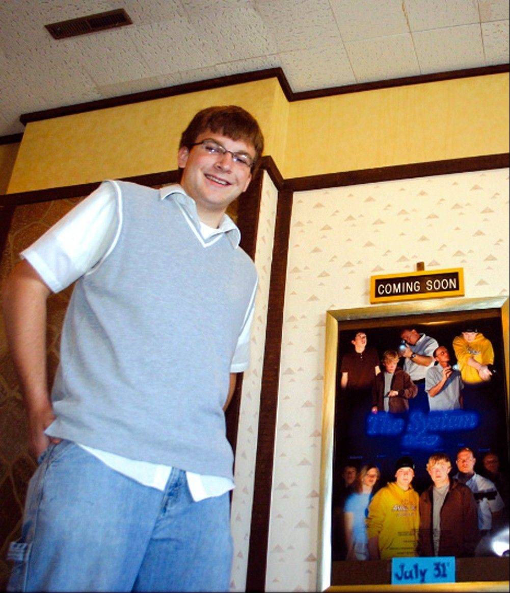 This July 2006 photo shows Nicholas Wieme at the Quarry Twin Theater in Pipestone, Minn. Wieme, a 23-year-old aspiring comedian, was attempting to take a photograph from atop the historic InterContinental Hotel in Chicago when he fell 22 feet down the building's smokestack and later died.